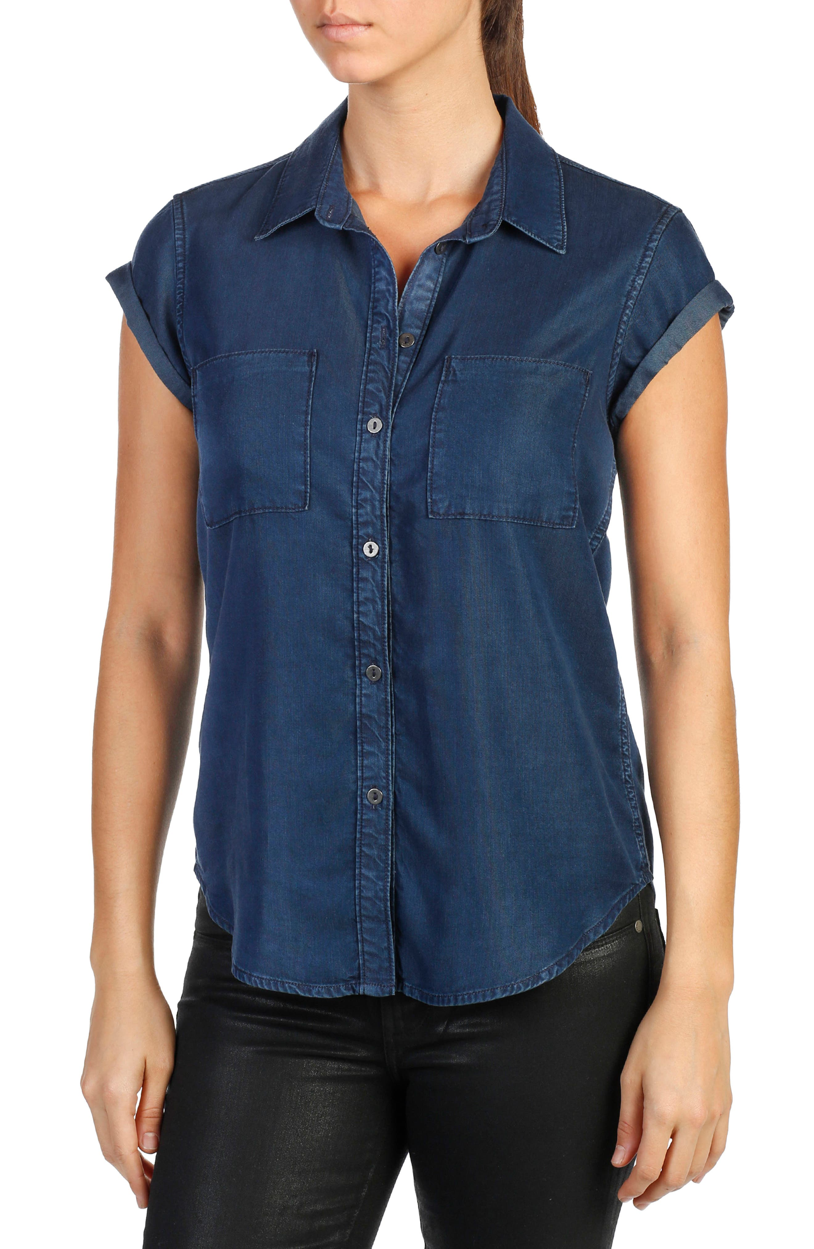 PAIGE Mila Chambray Shirt