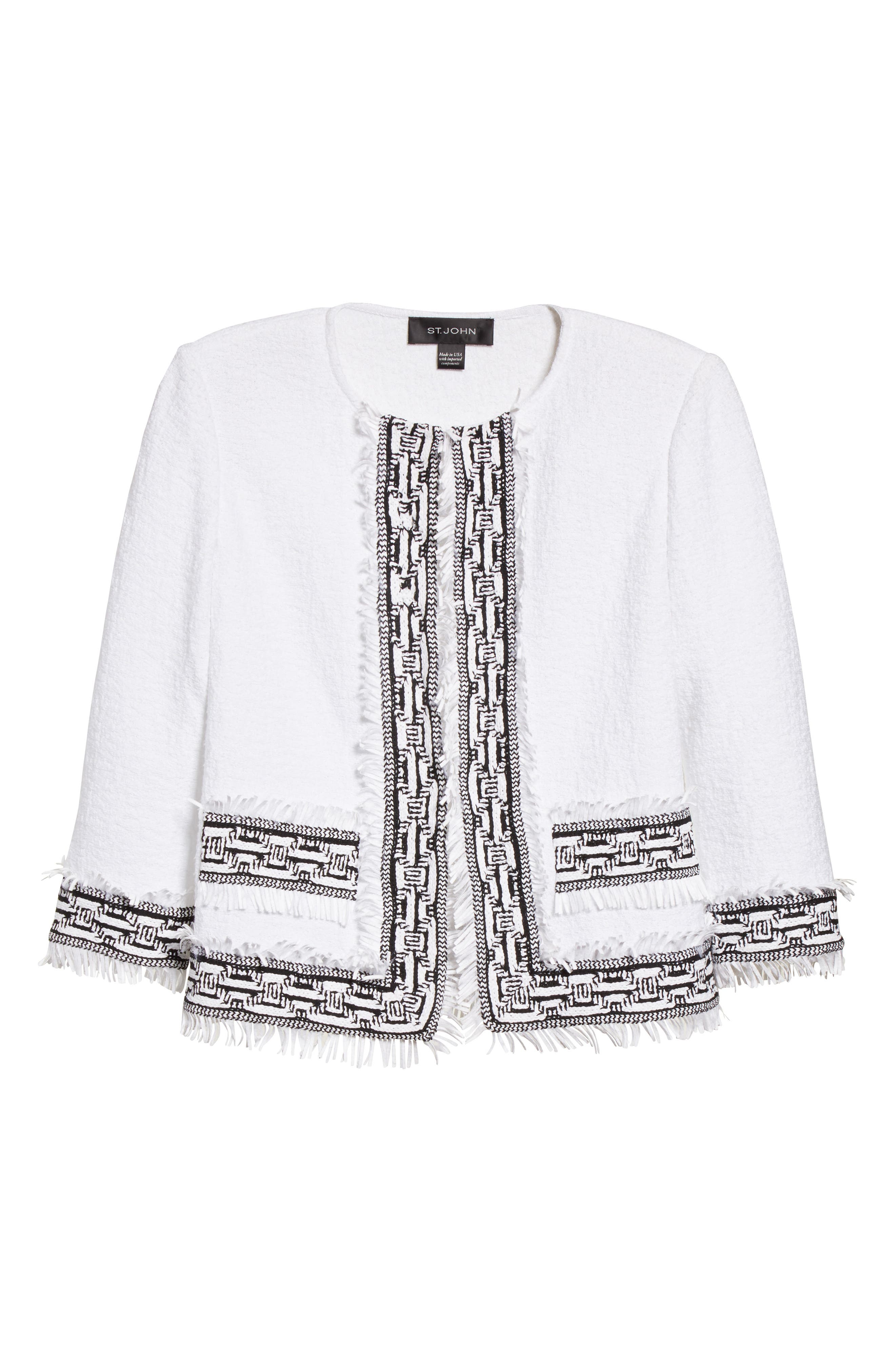 Alternate Image 6  - St. John Collection Fringe Clair Knit Jacket