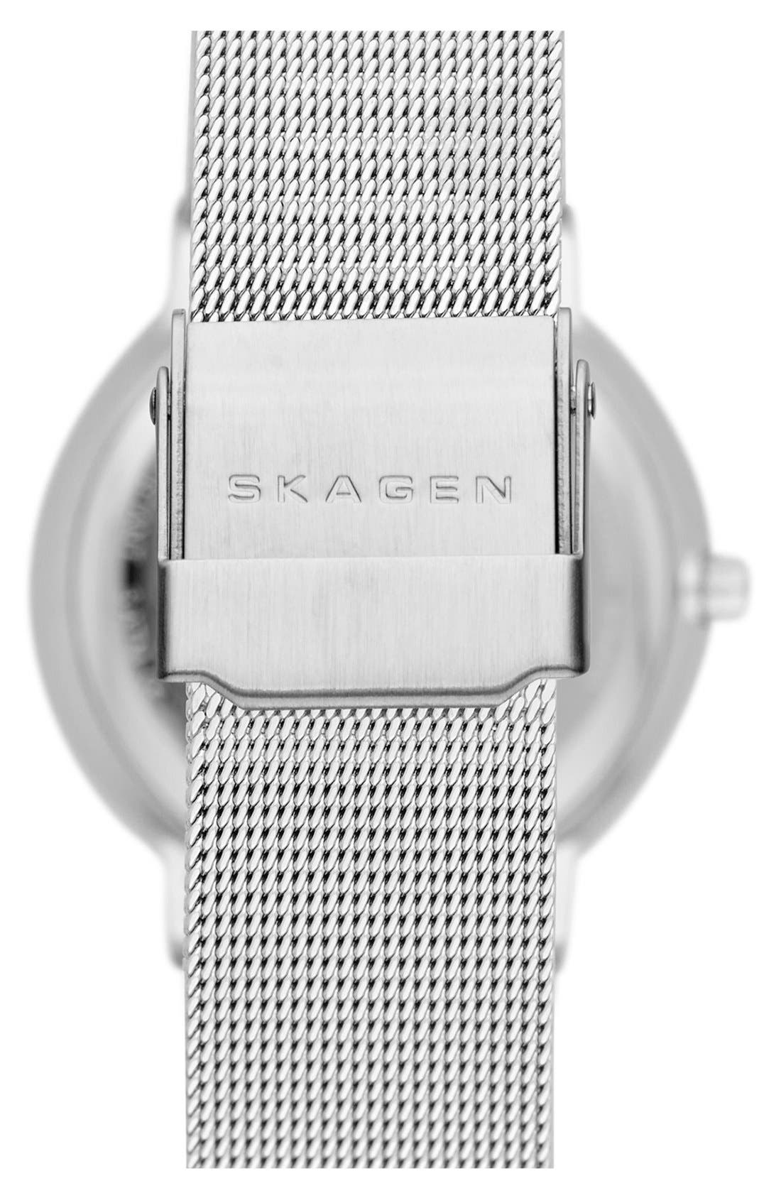 Alternate Image 2  - Skagen 'Nicoline' Round Mesh Strap Watch, 32mm