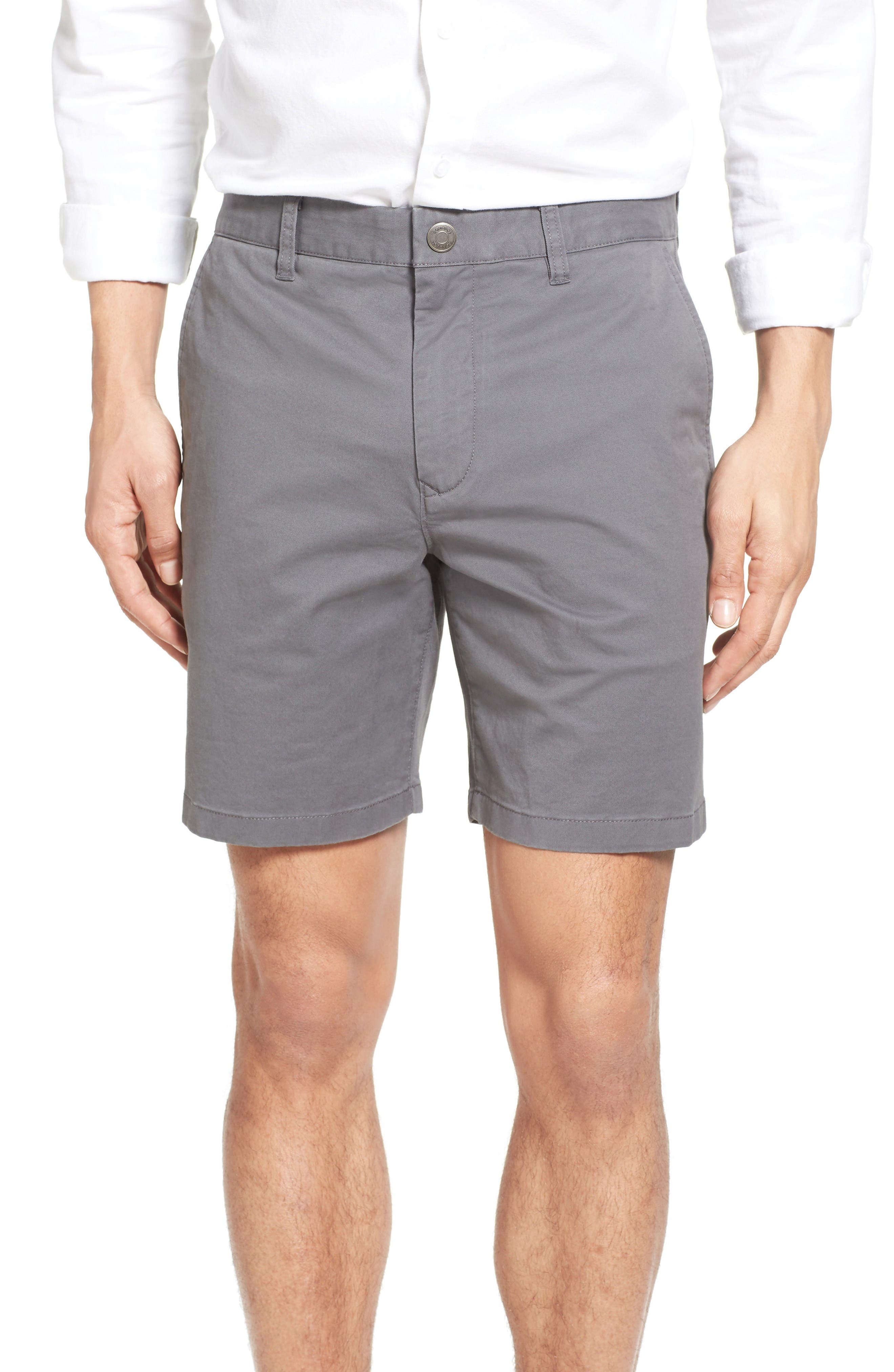 Stretch Washed Chino 7-Inch Shorts,                         Main,                         color, Graphites