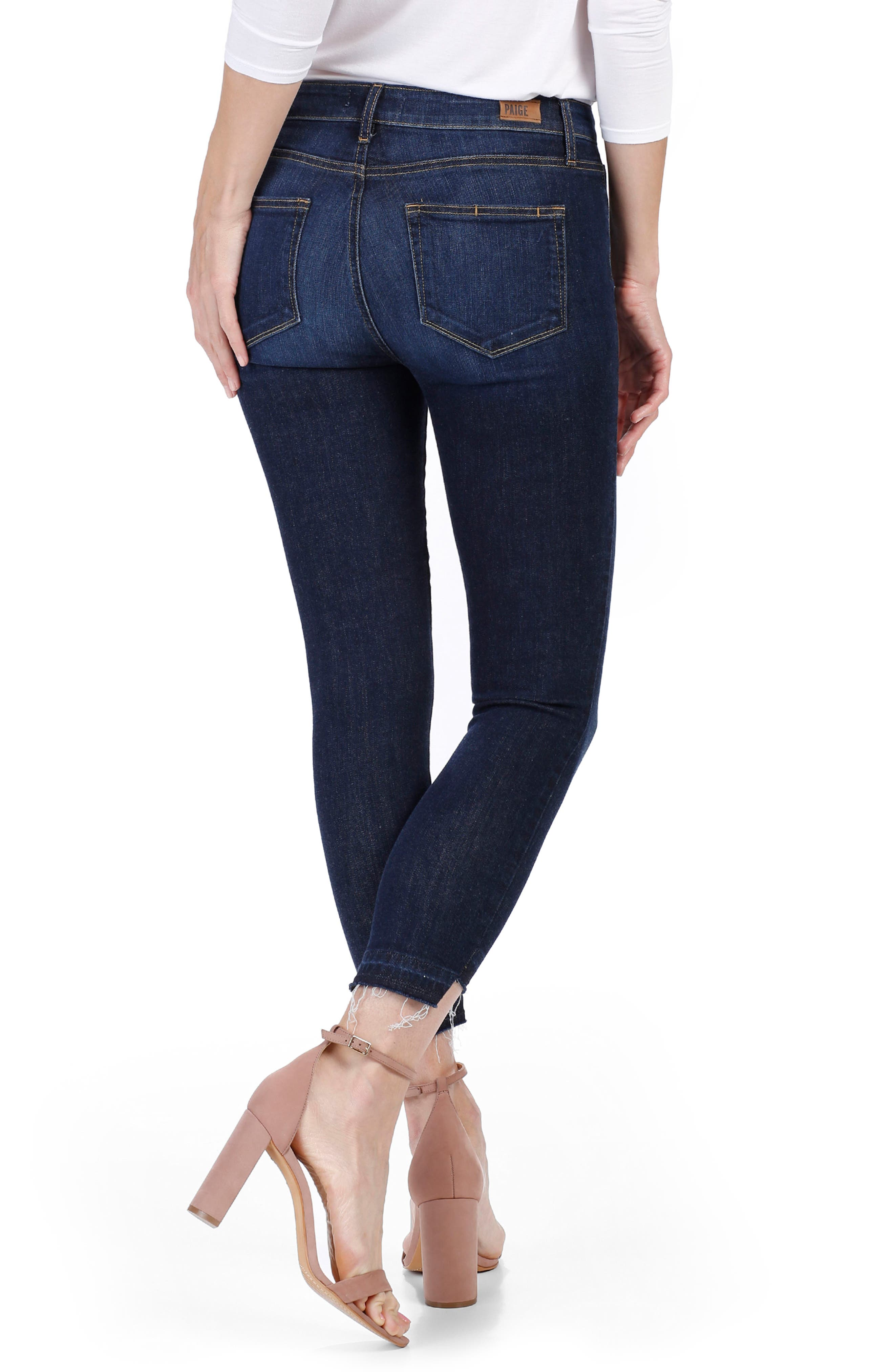 Alternate Image 3  - PAIGE Hoxton High Waist Crop Ultra Skinny Jeans (Emery)