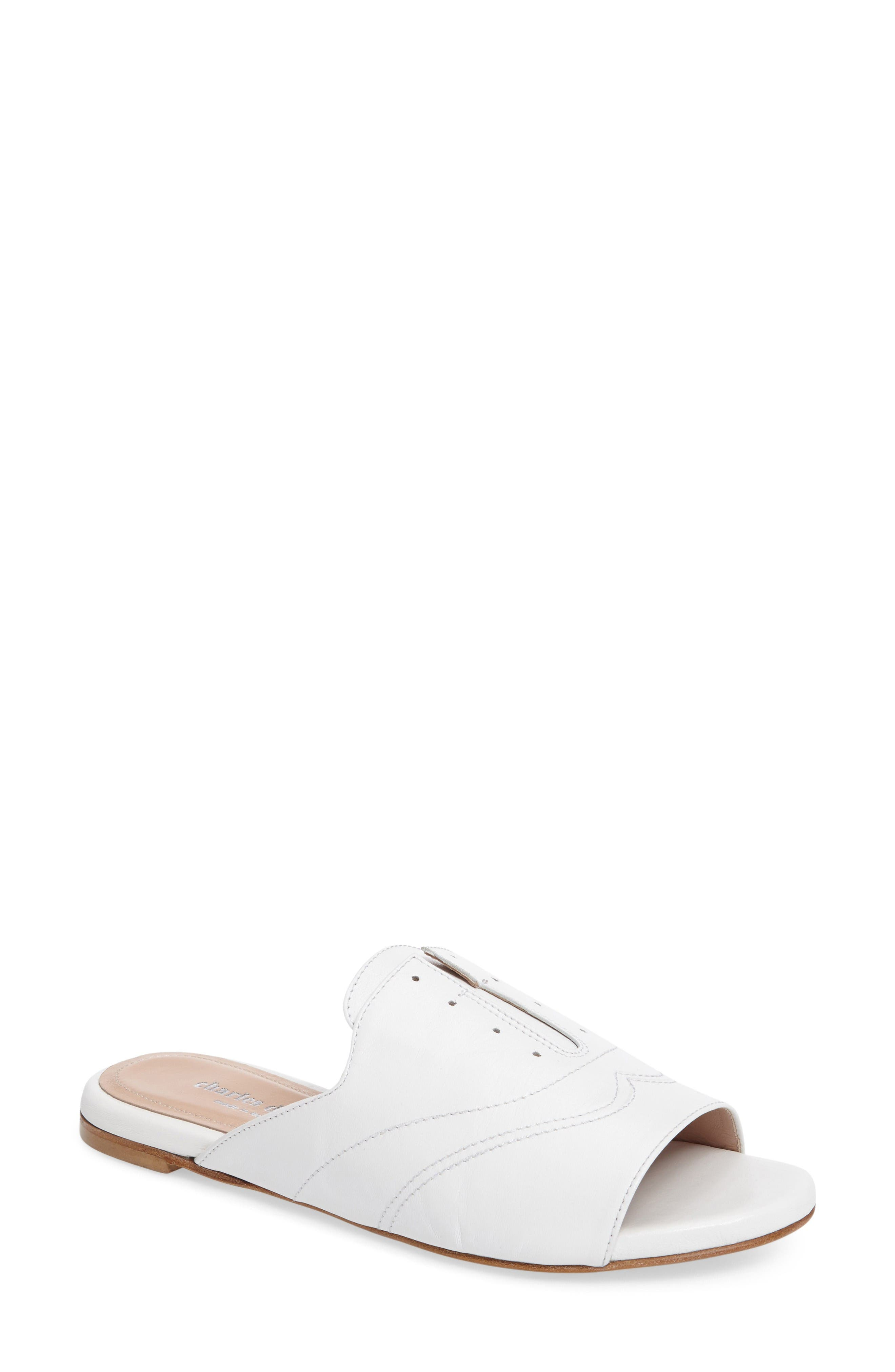 Smith Mule,                             Main thumbnail 1, color,                             White Leather