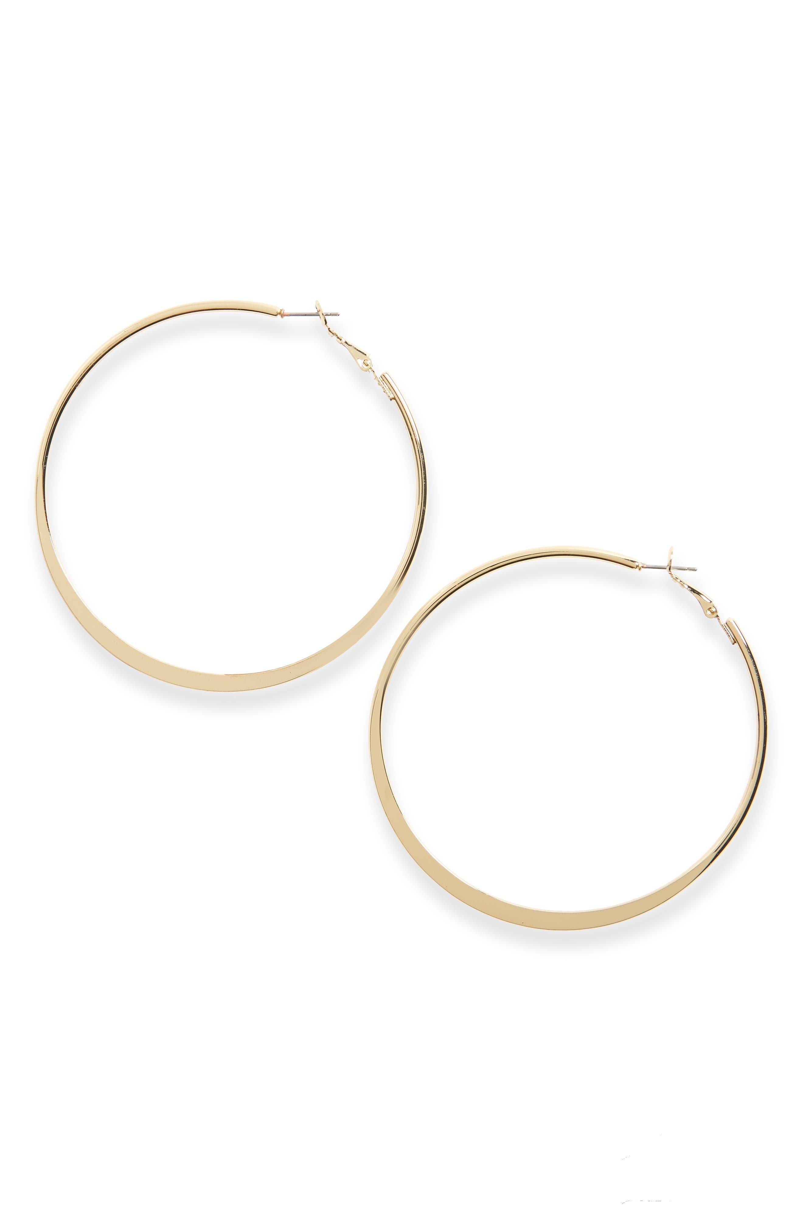TOPSHOP Flat Hoop Earrings