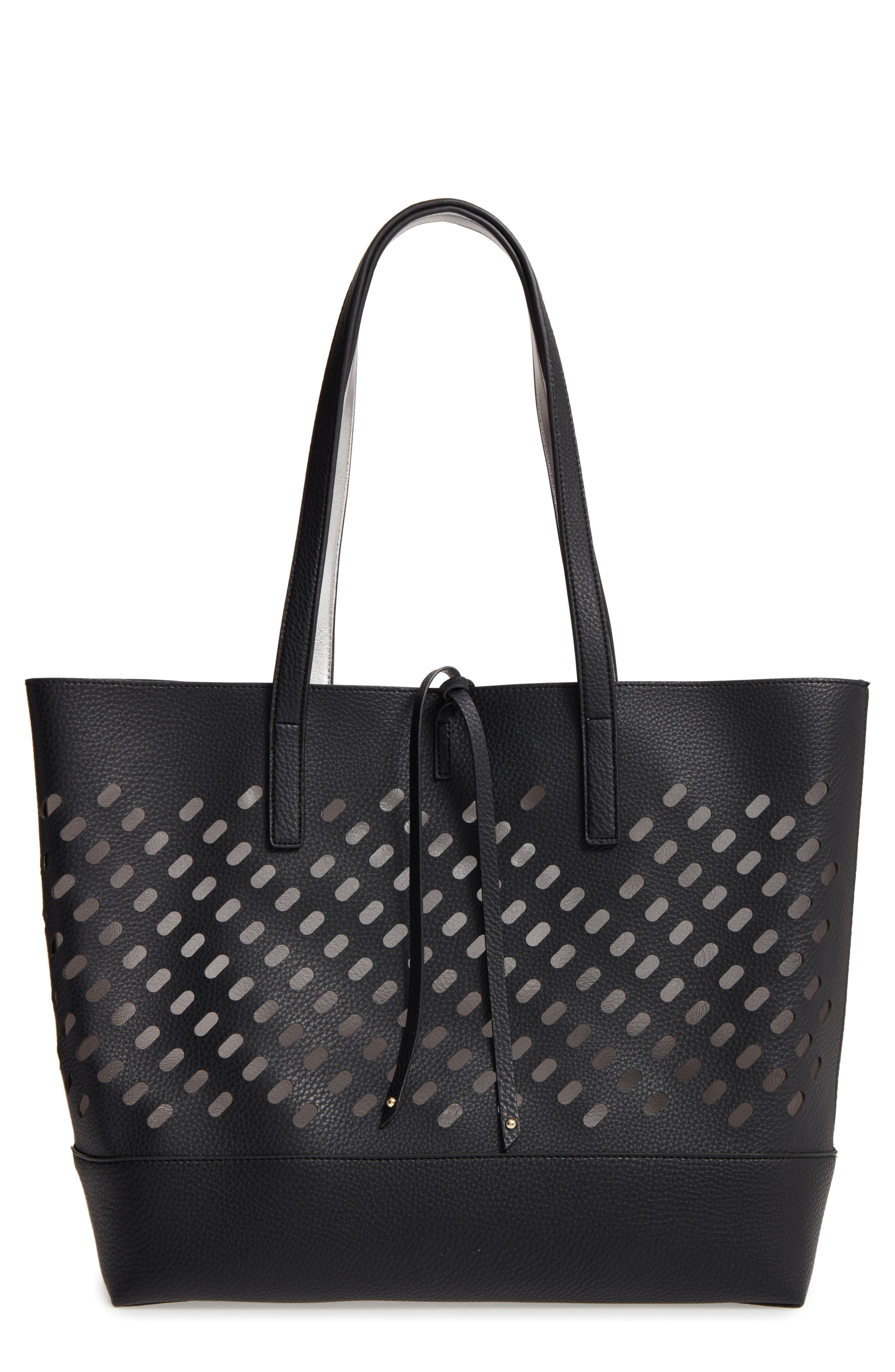 POVERTY FLATS by rian Reversible Faux Leather Tote