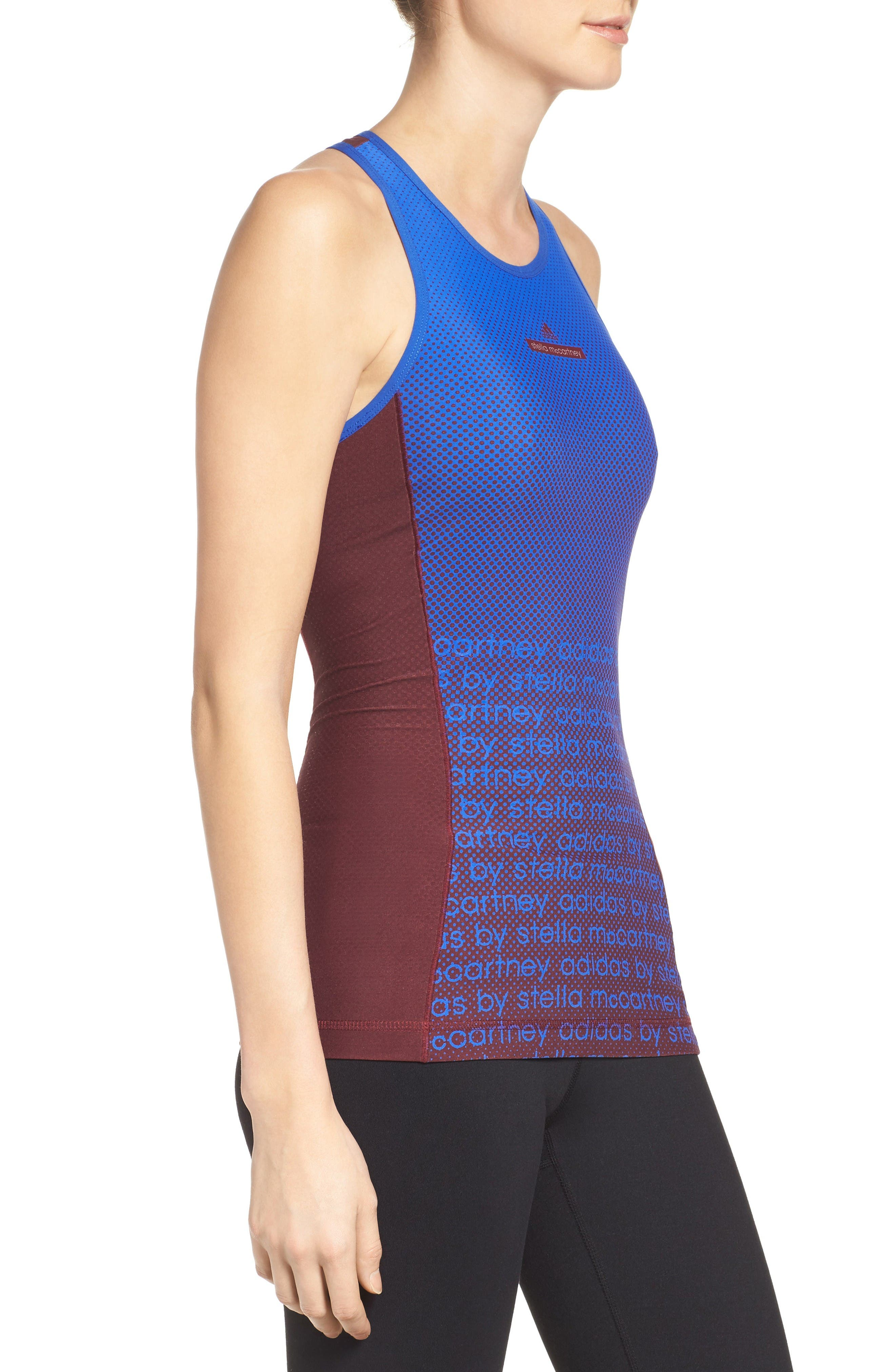 Shaping Compression Tank,                             Alternate thumbnail 3, color,                             Cherry Wood/ Bold Blue