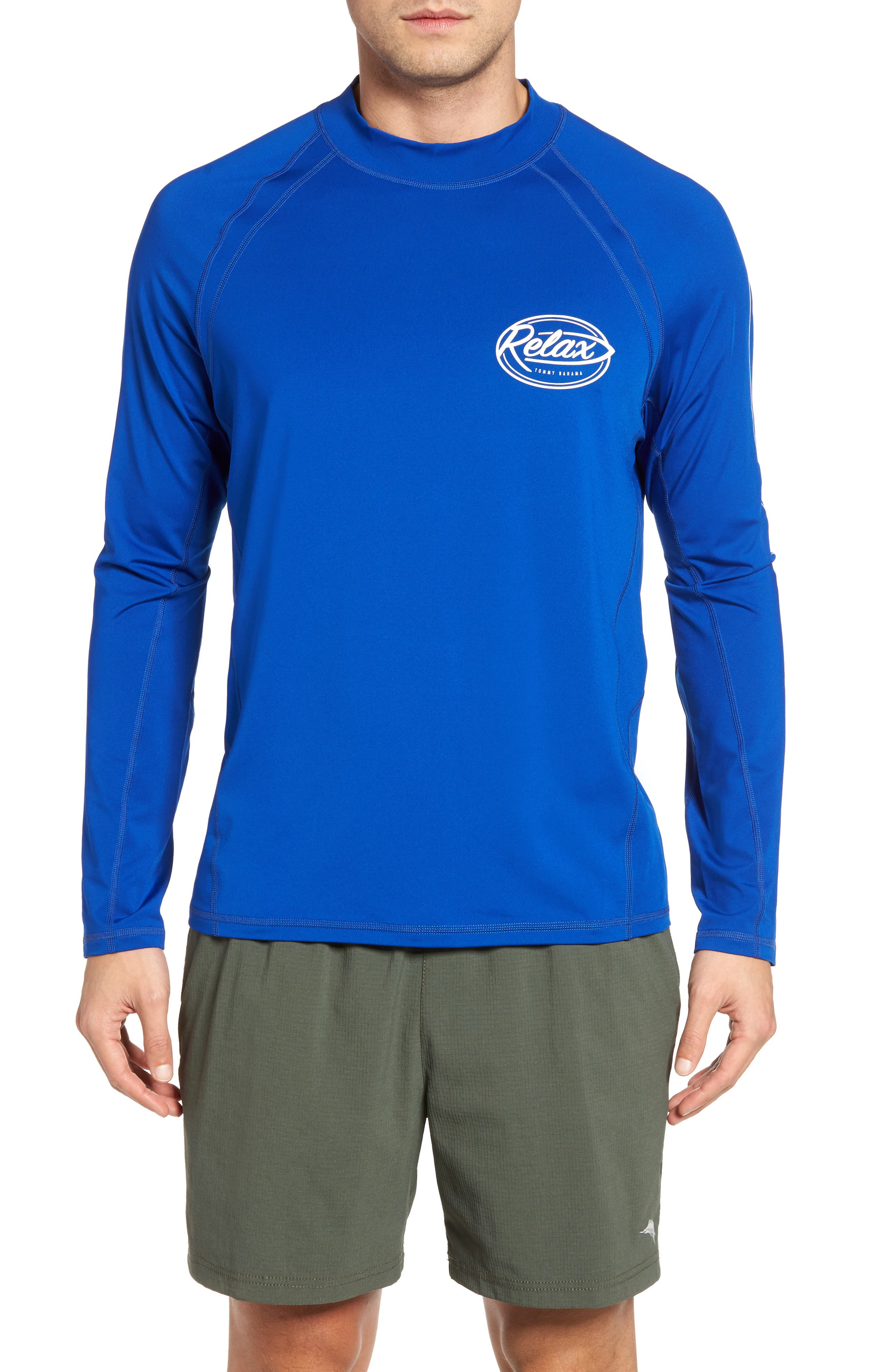 Beach Break Surf Shirt,                             Main thumbnail 1, color,                             Old Royal