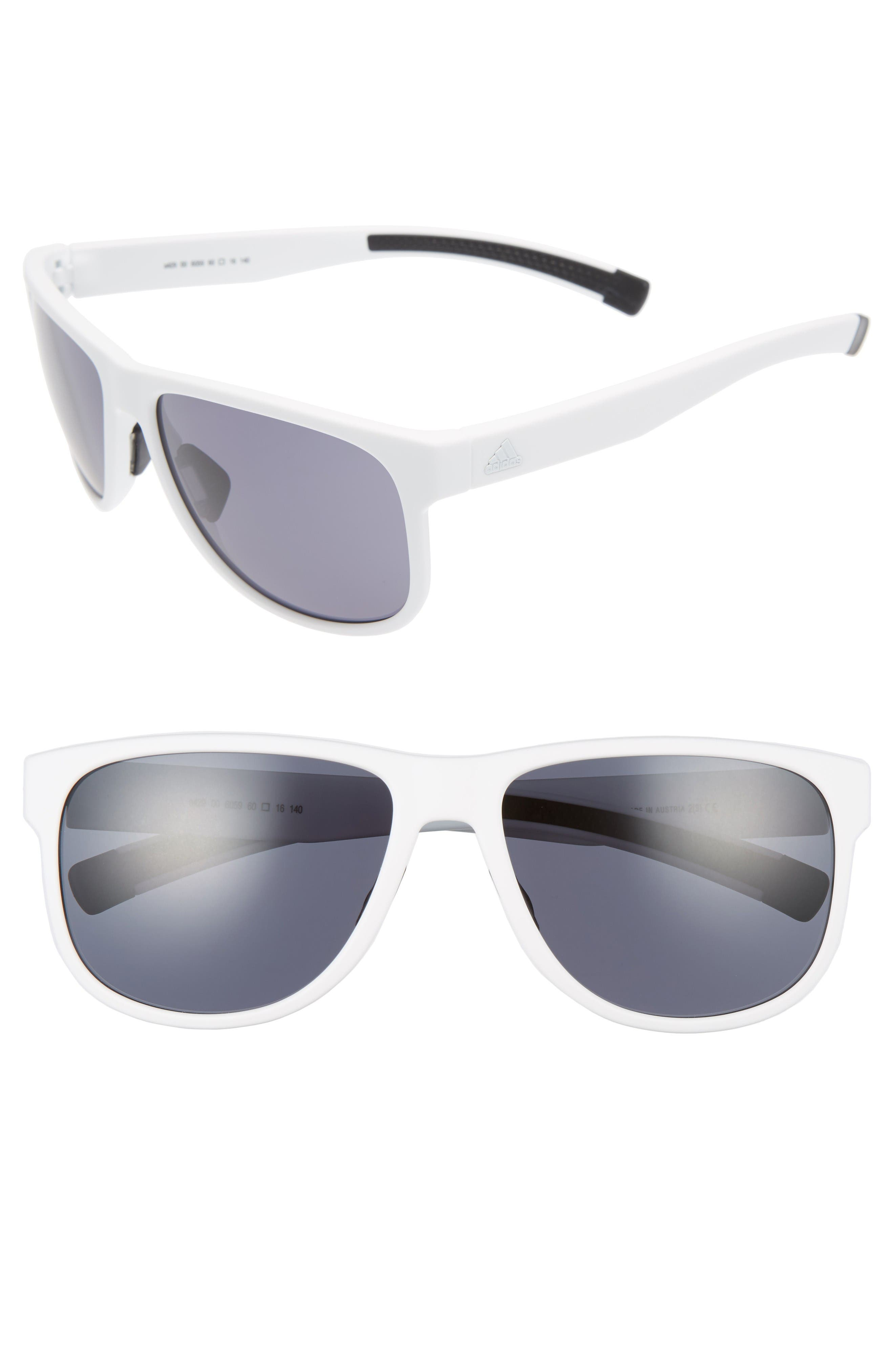 Sprung 60mm Sunglasses,                         Main,                         color, White Matte/ Grey
