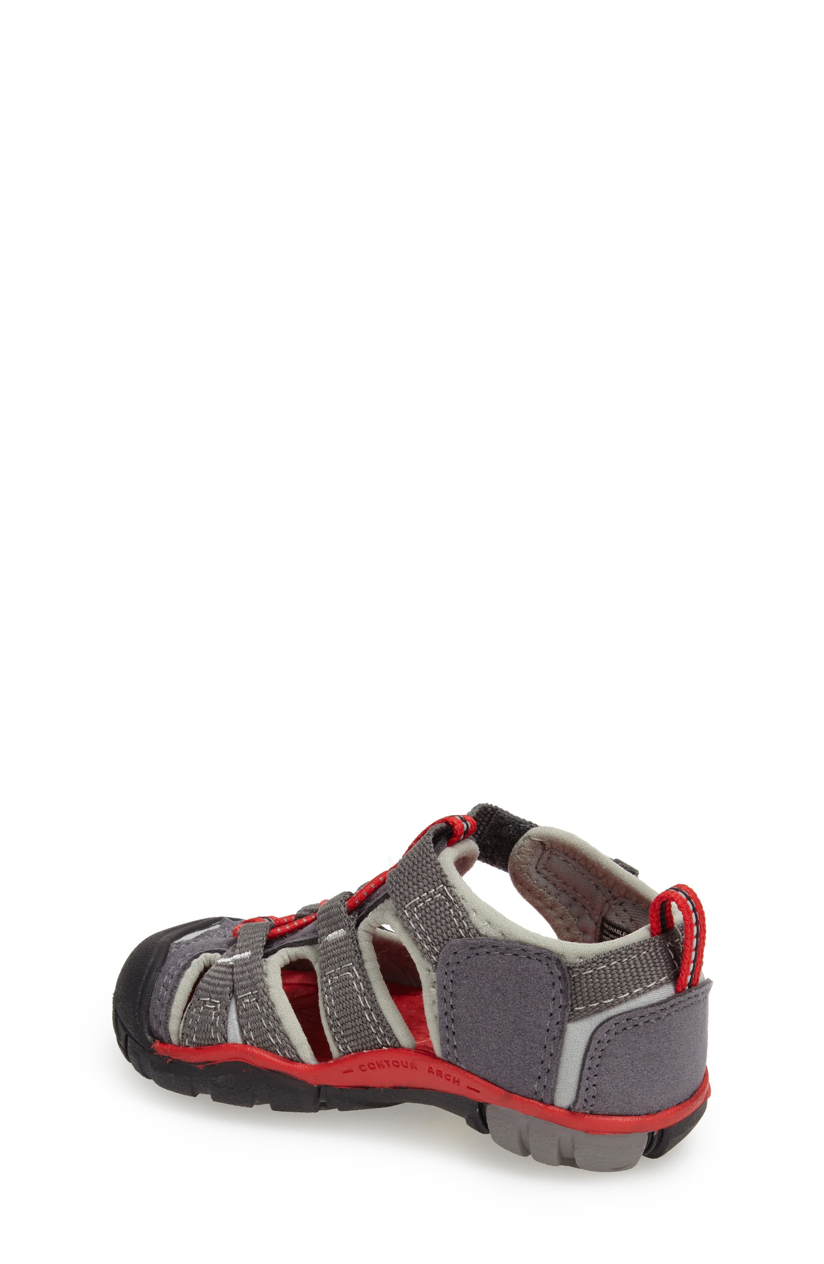 Seacamp II Water Friendly Sandal,                             Alternate thumbnail 2, color,                             Magnet/ Racing Red