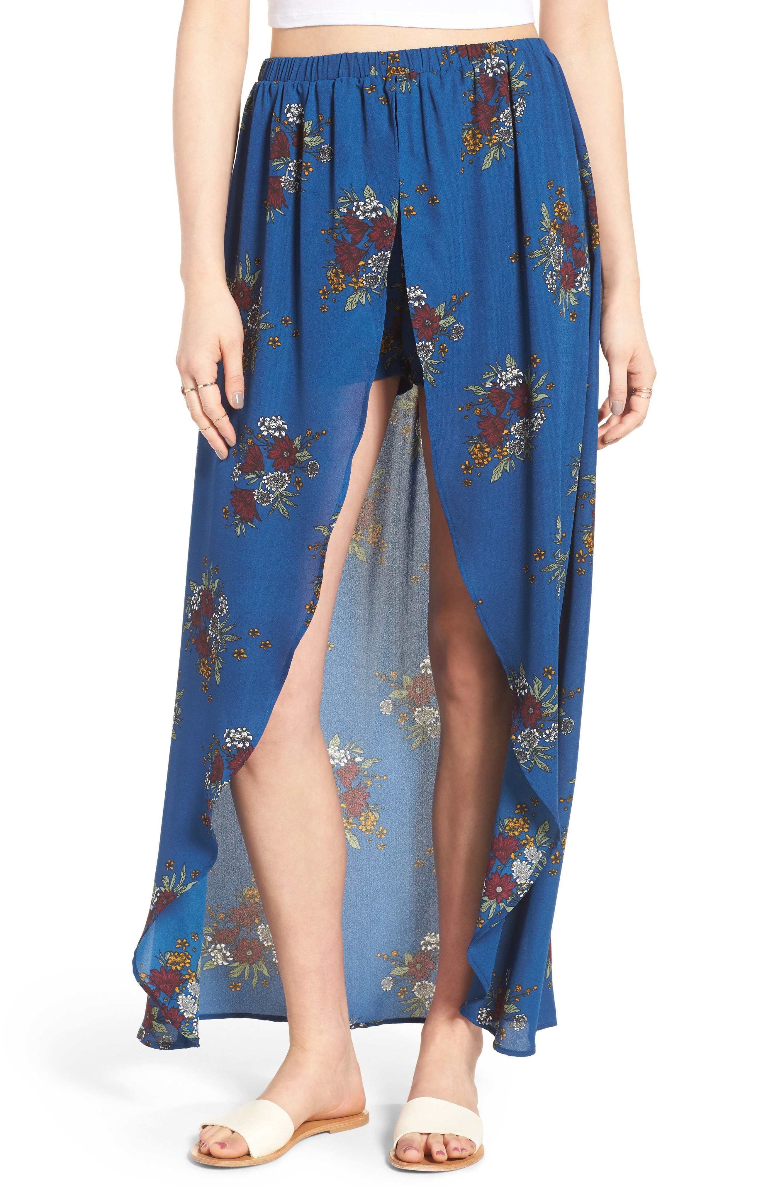 Alternate Image 1 Selected - Mimi Chica Floral Maxi Skort