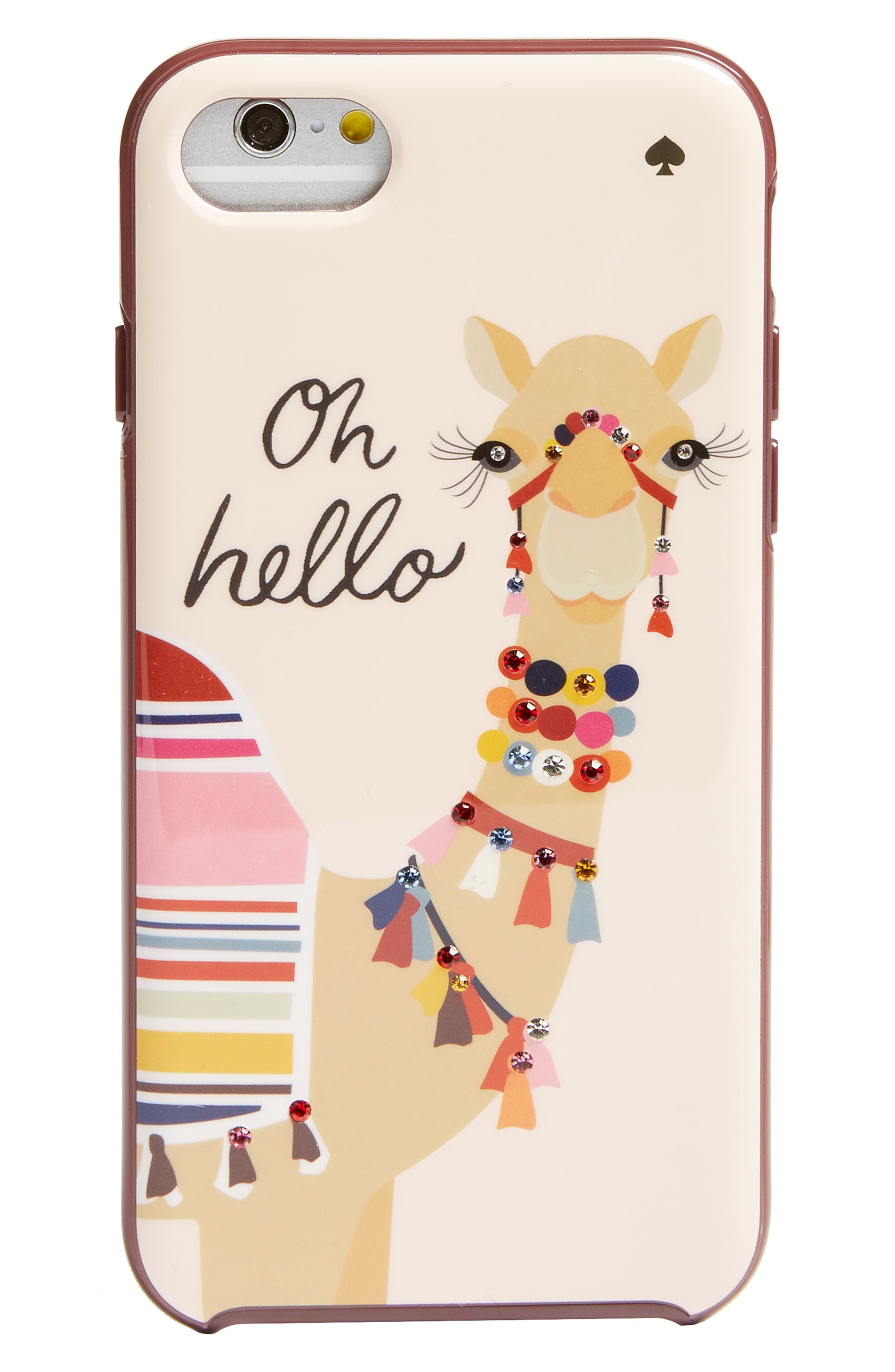 Alternate Image 1 Selected - kate spade new york camel iPhone 7 & 7 Plus case (Nordstrom Exclusive)