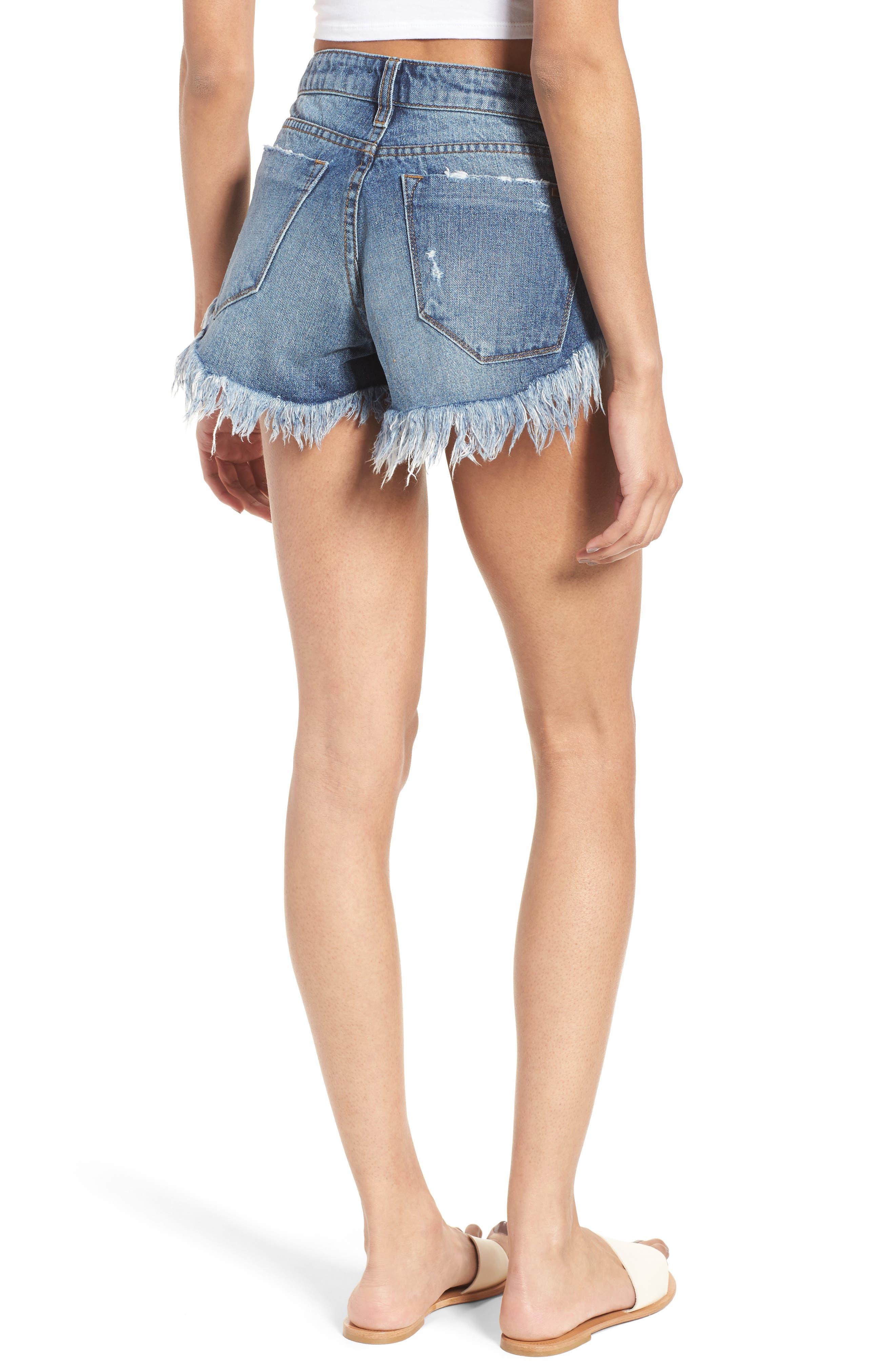 Alternate Image 3  - STS Blue Cheeky Frayed Hem Denim Shorts