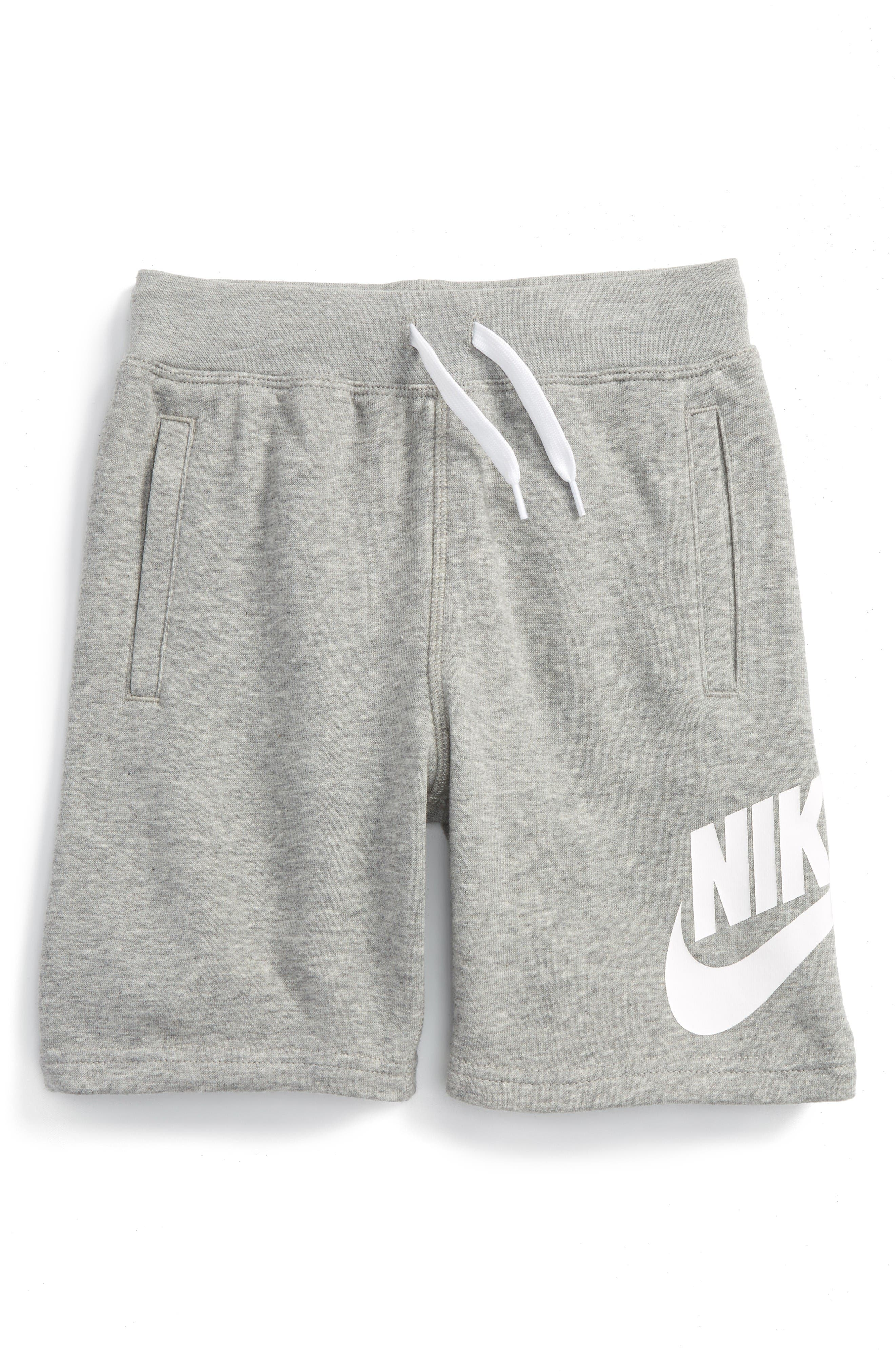 Alumni French Terry Knit Shorts,                             Main thumbnail 1, color,                             Heather Reflux