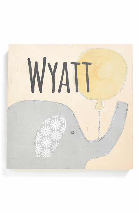 Personalized gifts baby shower gifts nordstrom someday inc personalized elephant birchwood wall art negle Choice Image