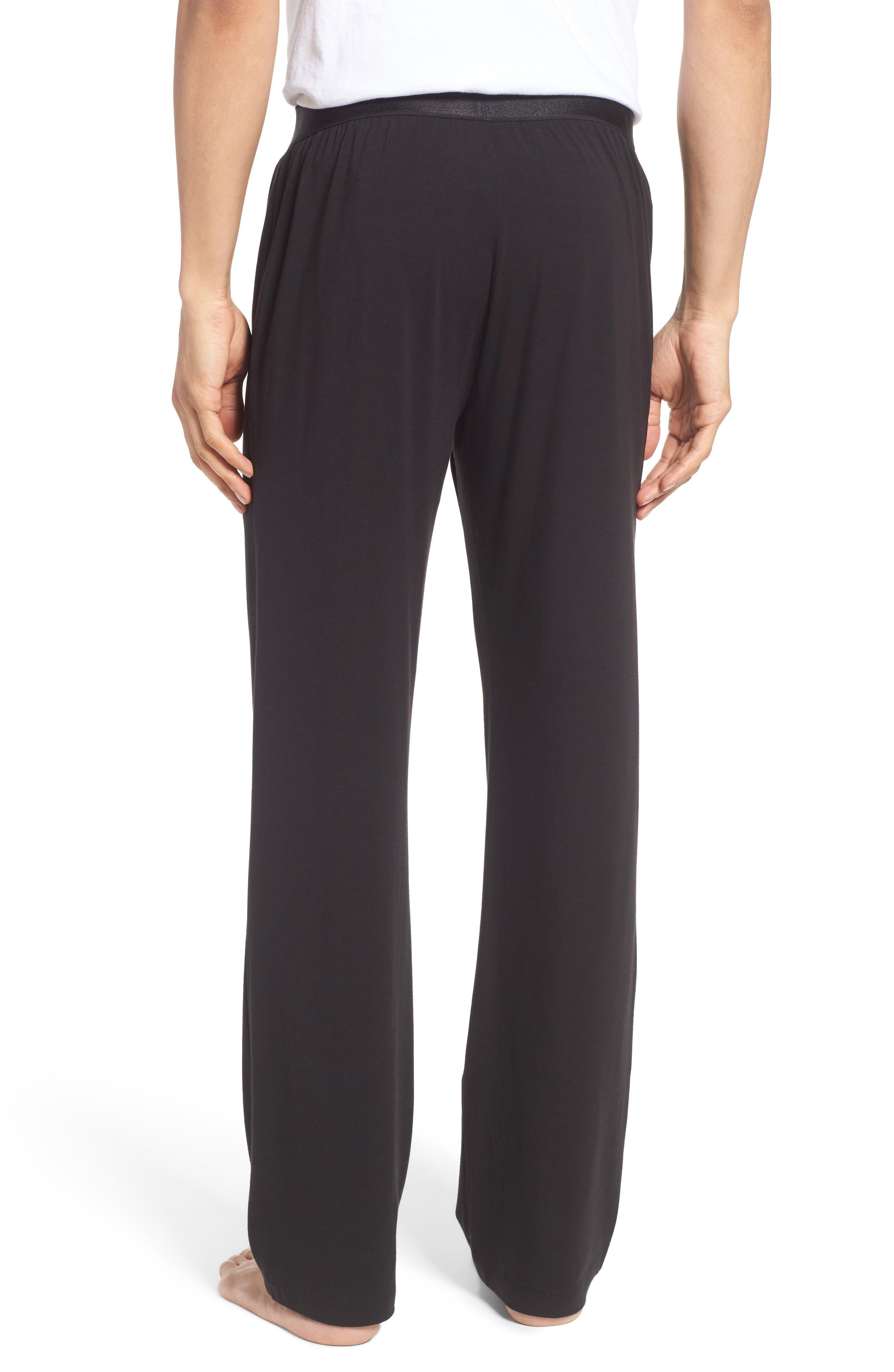 Micromodal Blend Lounge Pants,                             Alternate thumbnail 2, color,                             Black