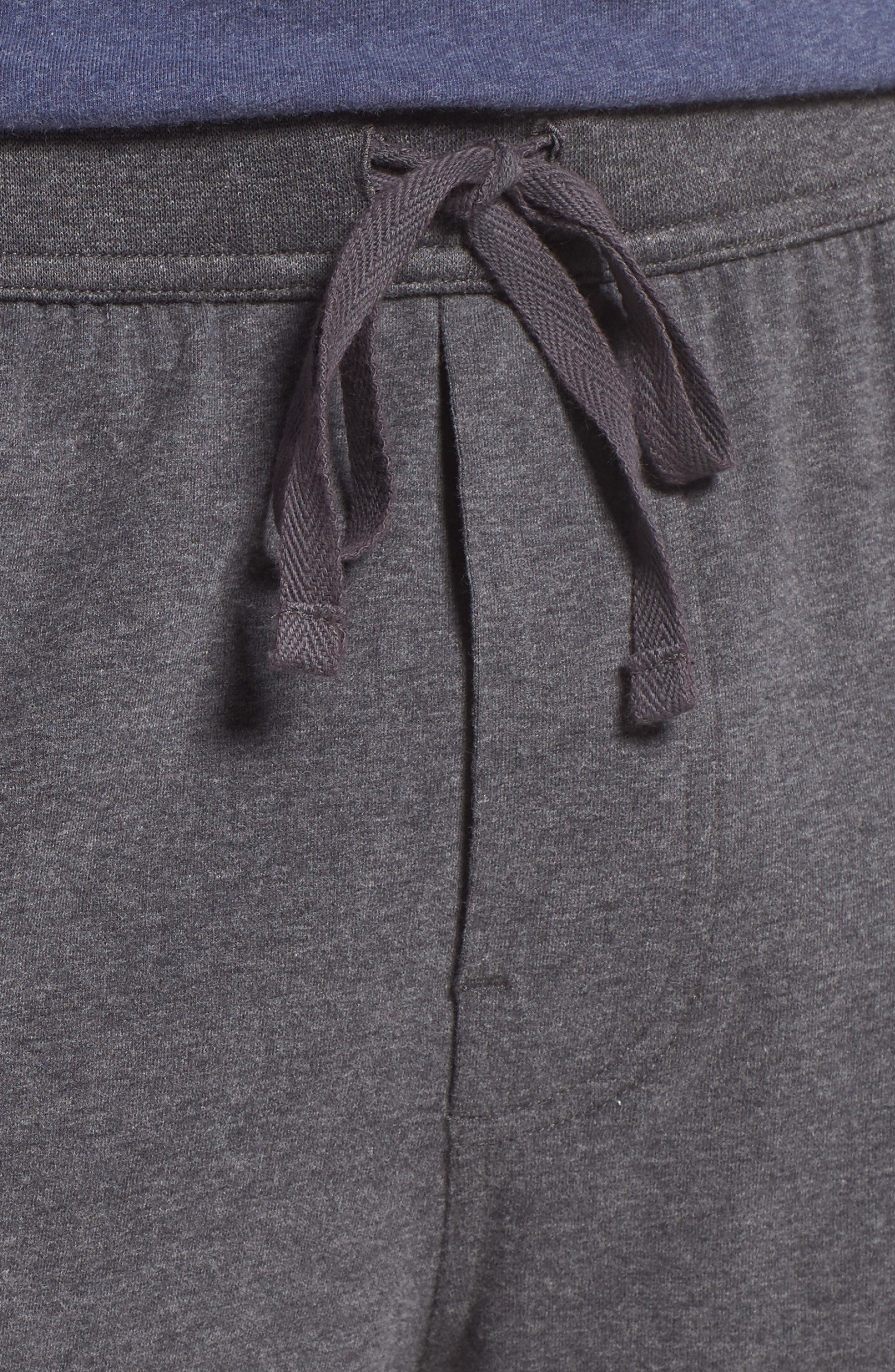 Stretch Cotton Lounge Shorts,                             Alternate thumbnail 4, color,                             Grey Charcoal