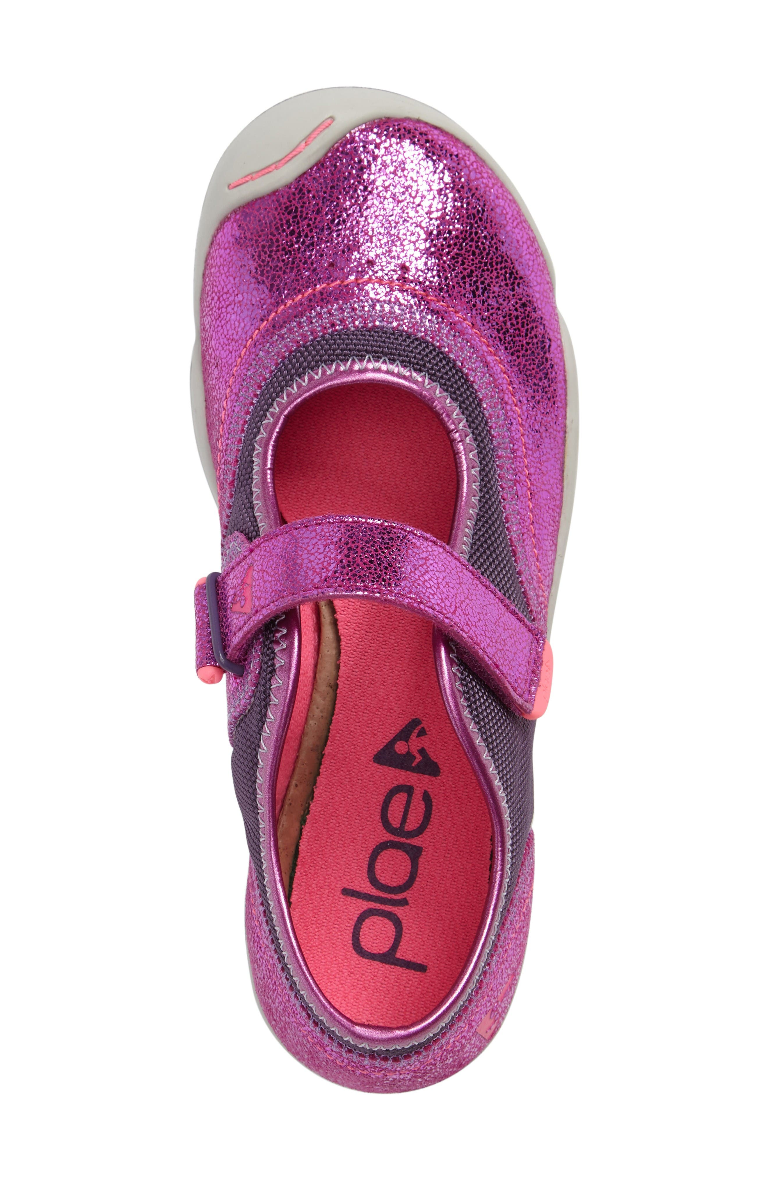 Emme Mary Jane,                             Alternate thumbnail 3, color,                             Viola Metallic Leather