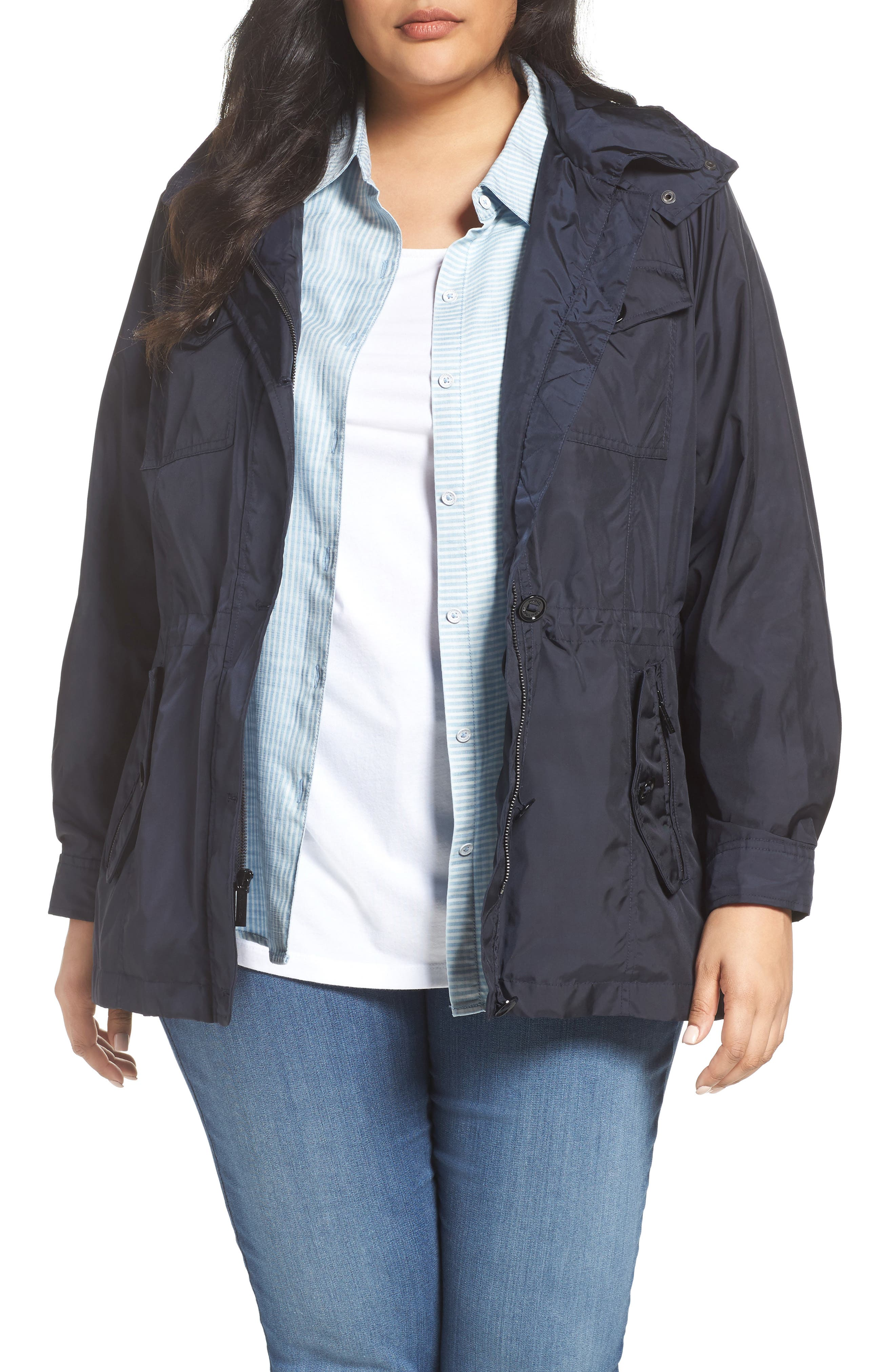 Hooded Utility Anorak,                             Main thumbnail 1, color,                             Navy