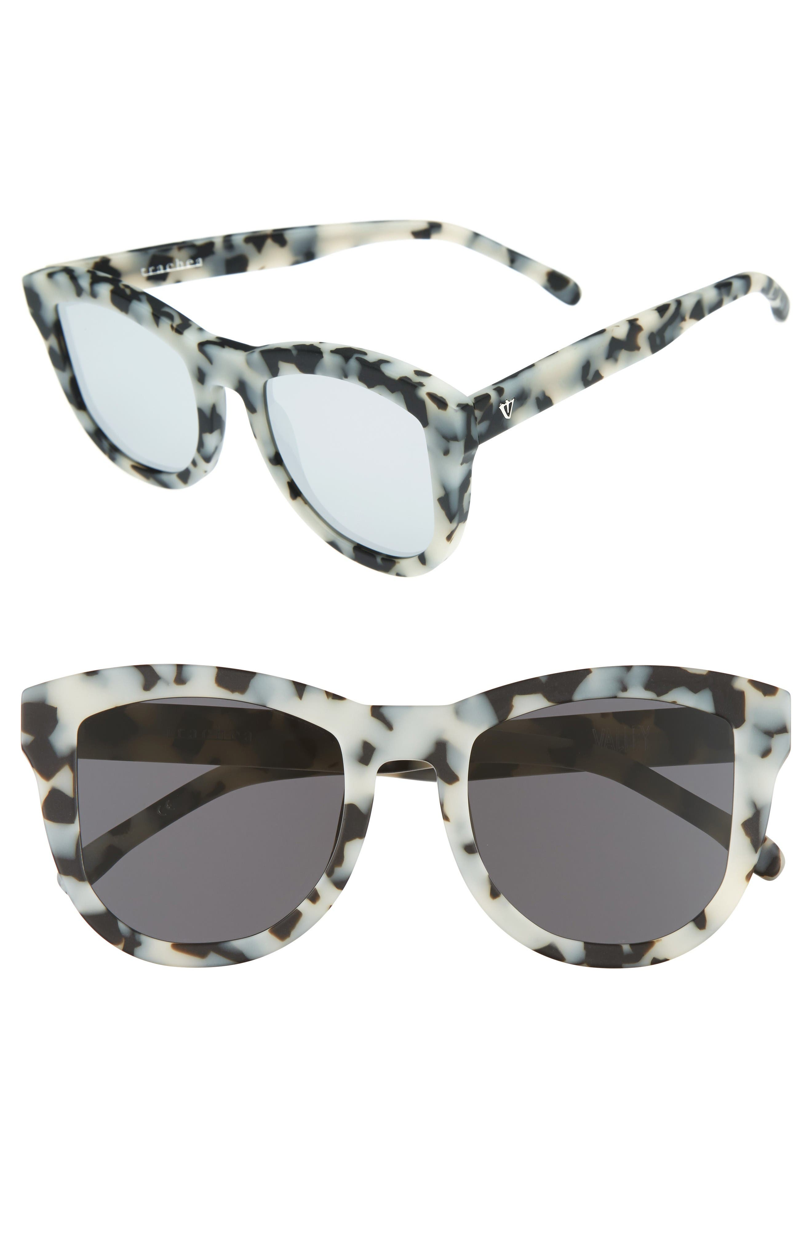 Alternate Image 1 Selected - VALLEY 50mm Trachea Retro Sunglasses