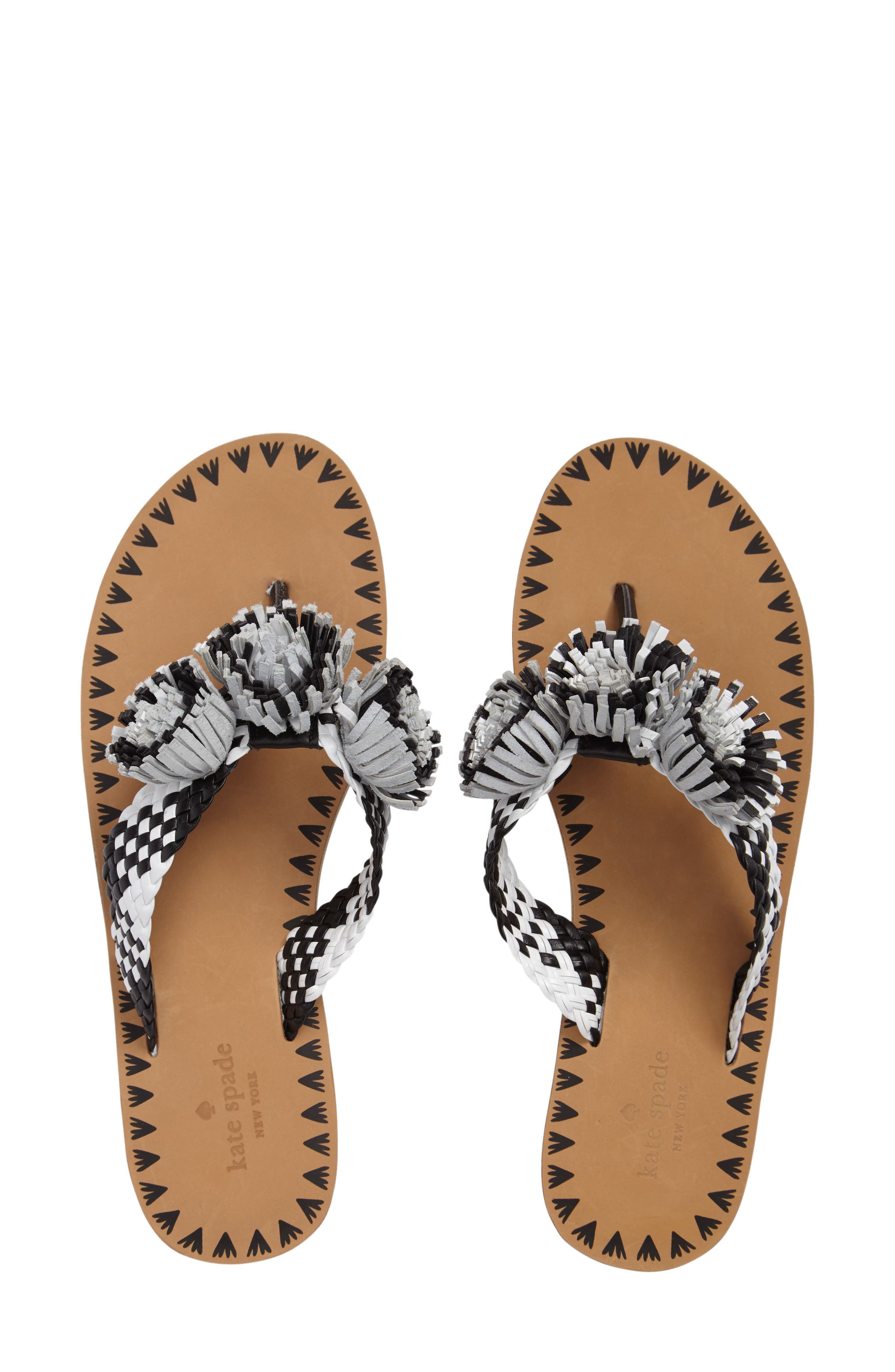 Alternate Image 1 Selected - kate spade new york idette fringe flip flop (Women)
