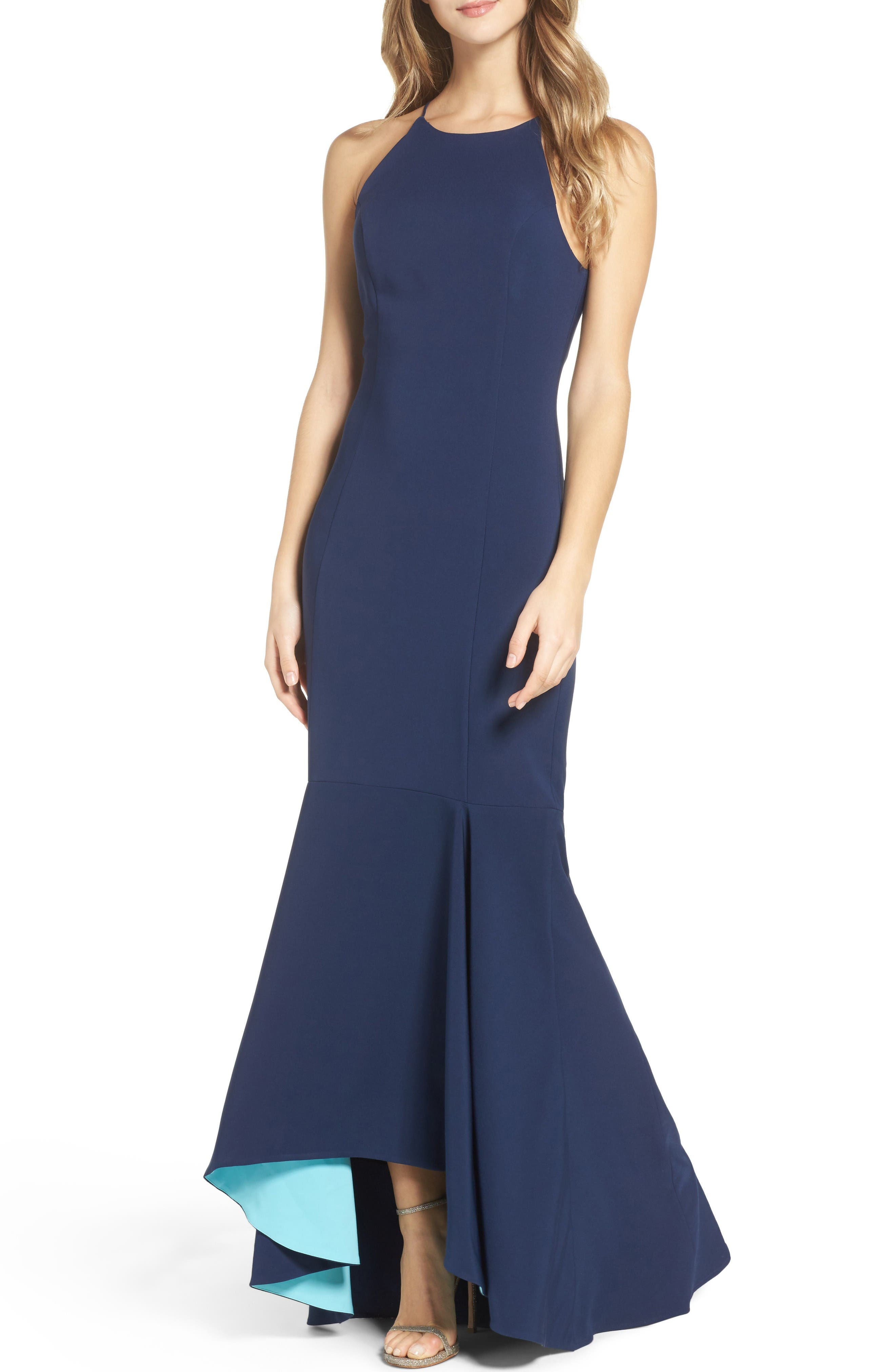 Maria Bianca Nero Colorblock Mermaid Gown