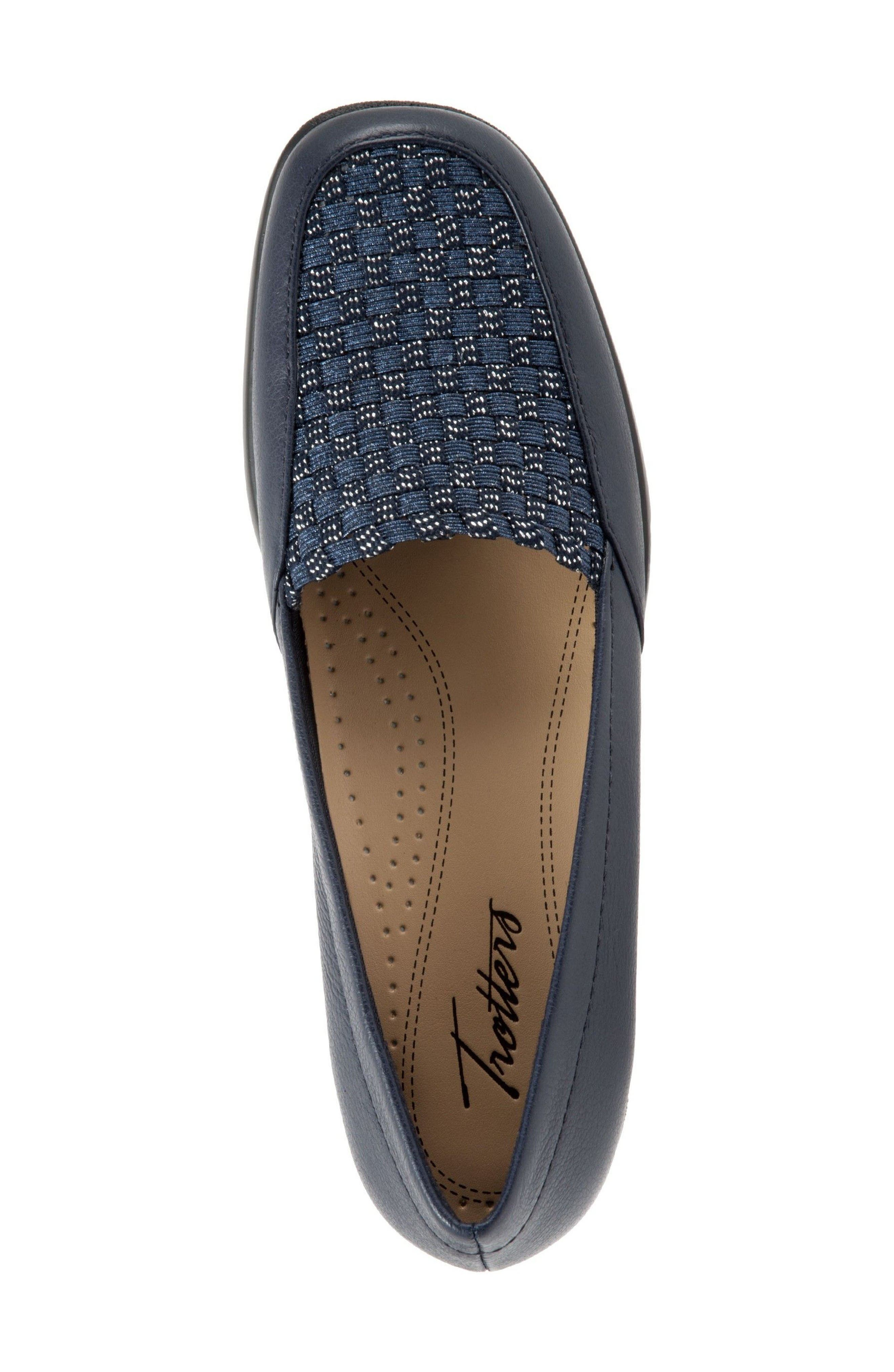 Jenkins Loafer Flat,                             Alternate thumbnail 3, color,                             Navy Leather