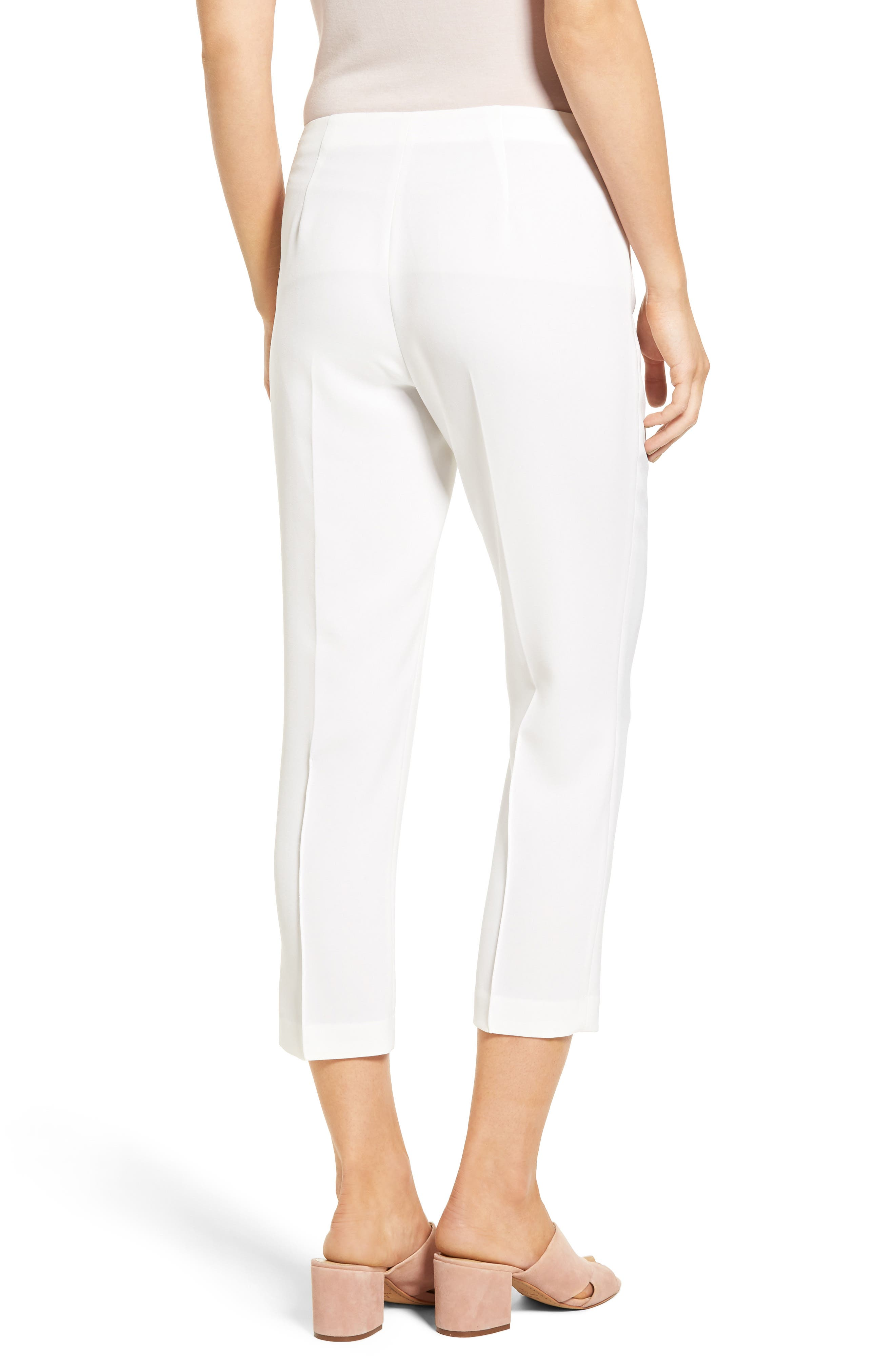 Sarah Crop Pants,                             Alternate thumbnail 2, color,                             White