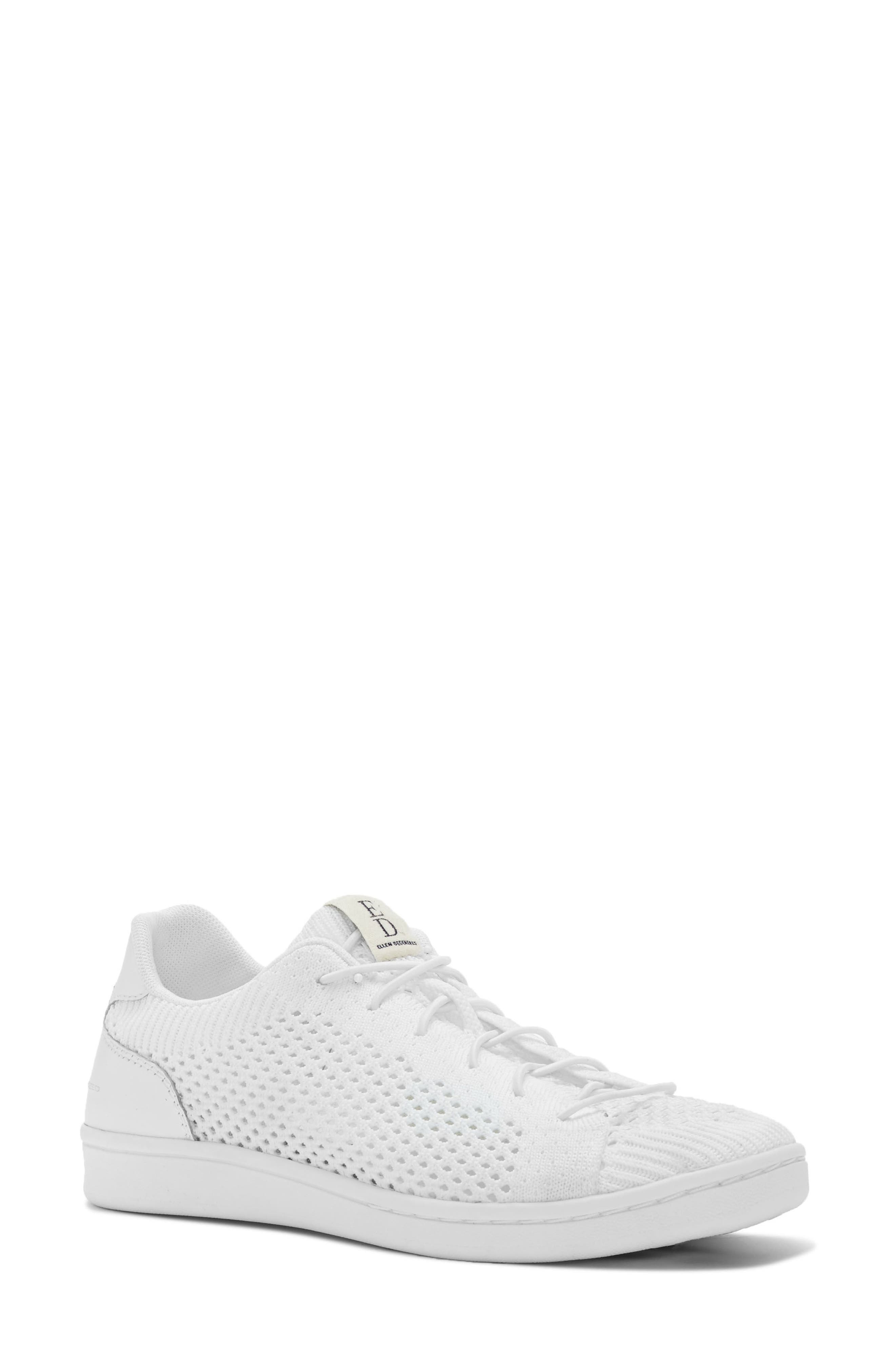 Casie Knit Sneaker,                         Main,                         color, Pure White Fabric
