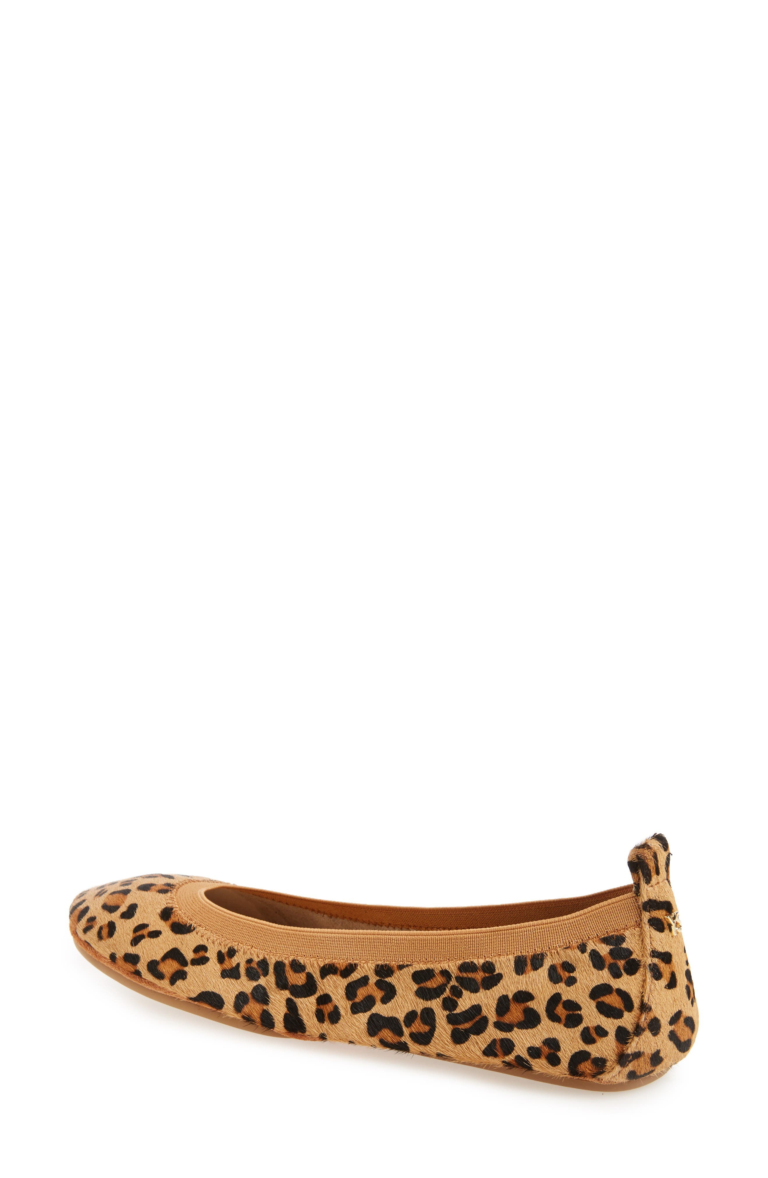 Samara 2.0 Foldable Ballet Flat,                             Alternate thumbnail 2, color,                             Natural Leopard Calf Hair