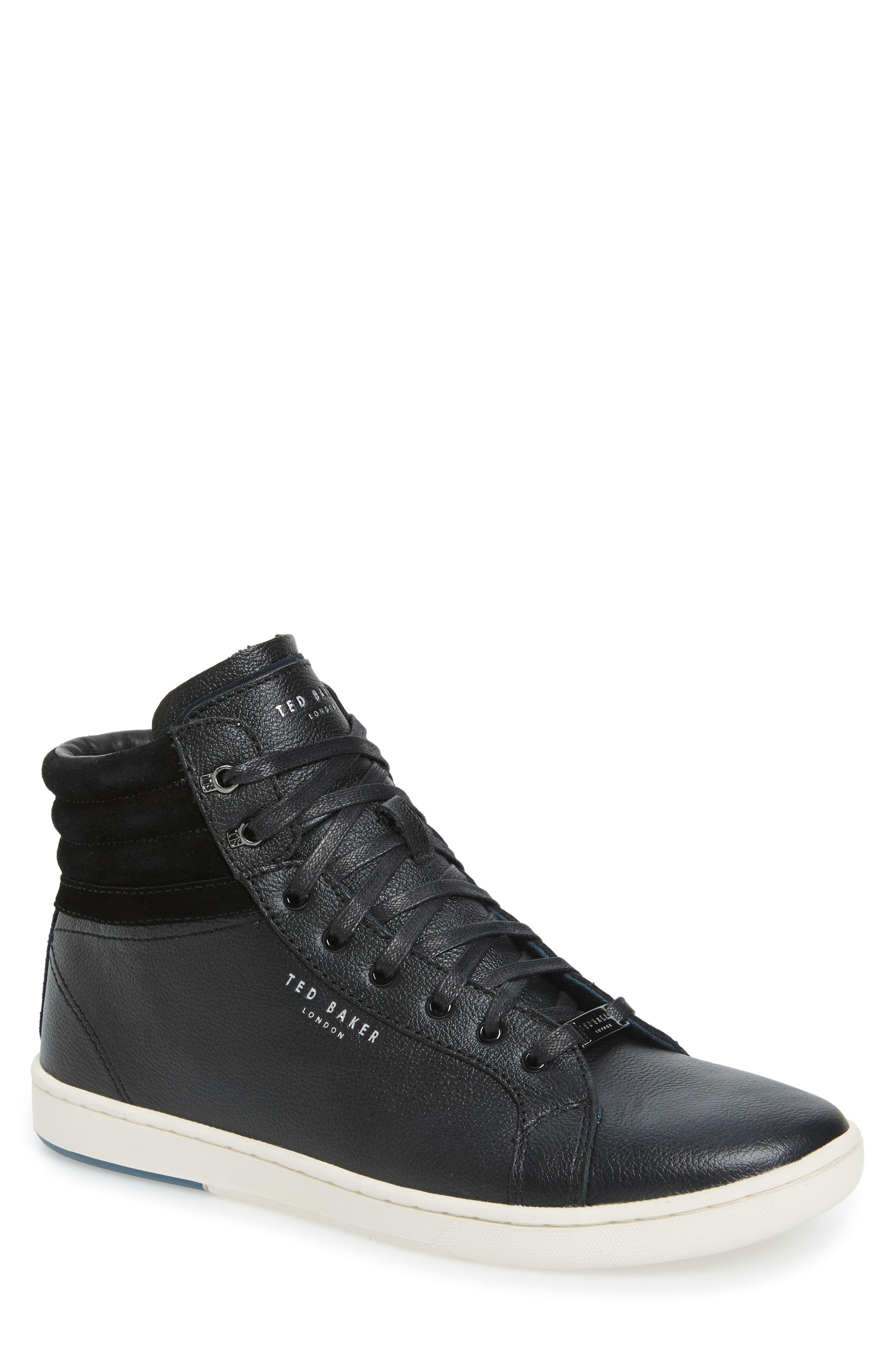 Mykka Sneaker,                             Main thumbnail 1, color,                             Black Leather