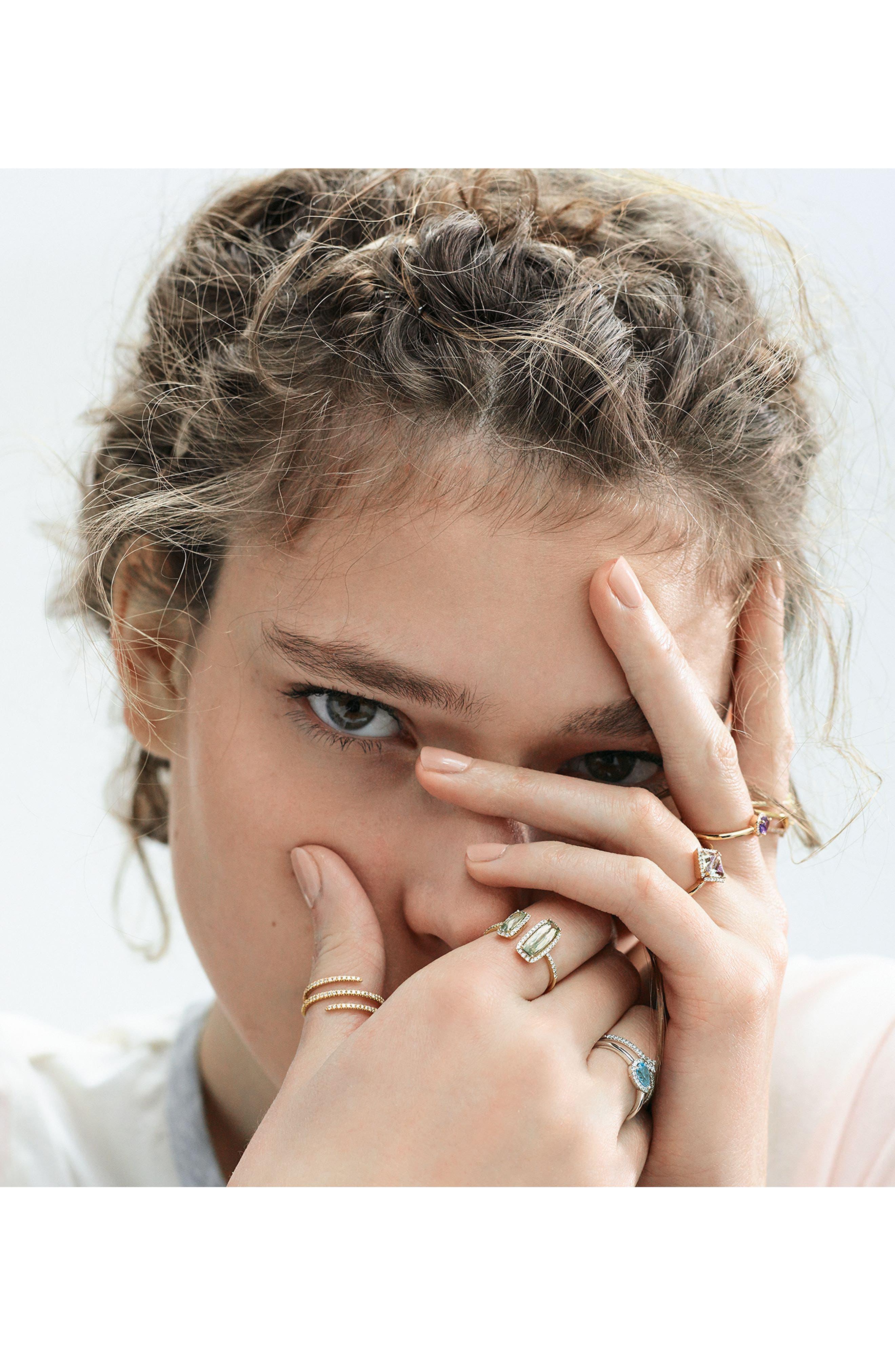 Iris Diamond & Semiprecious Stone Teardrop Ring,                             Alternate thumbnail 2, color,