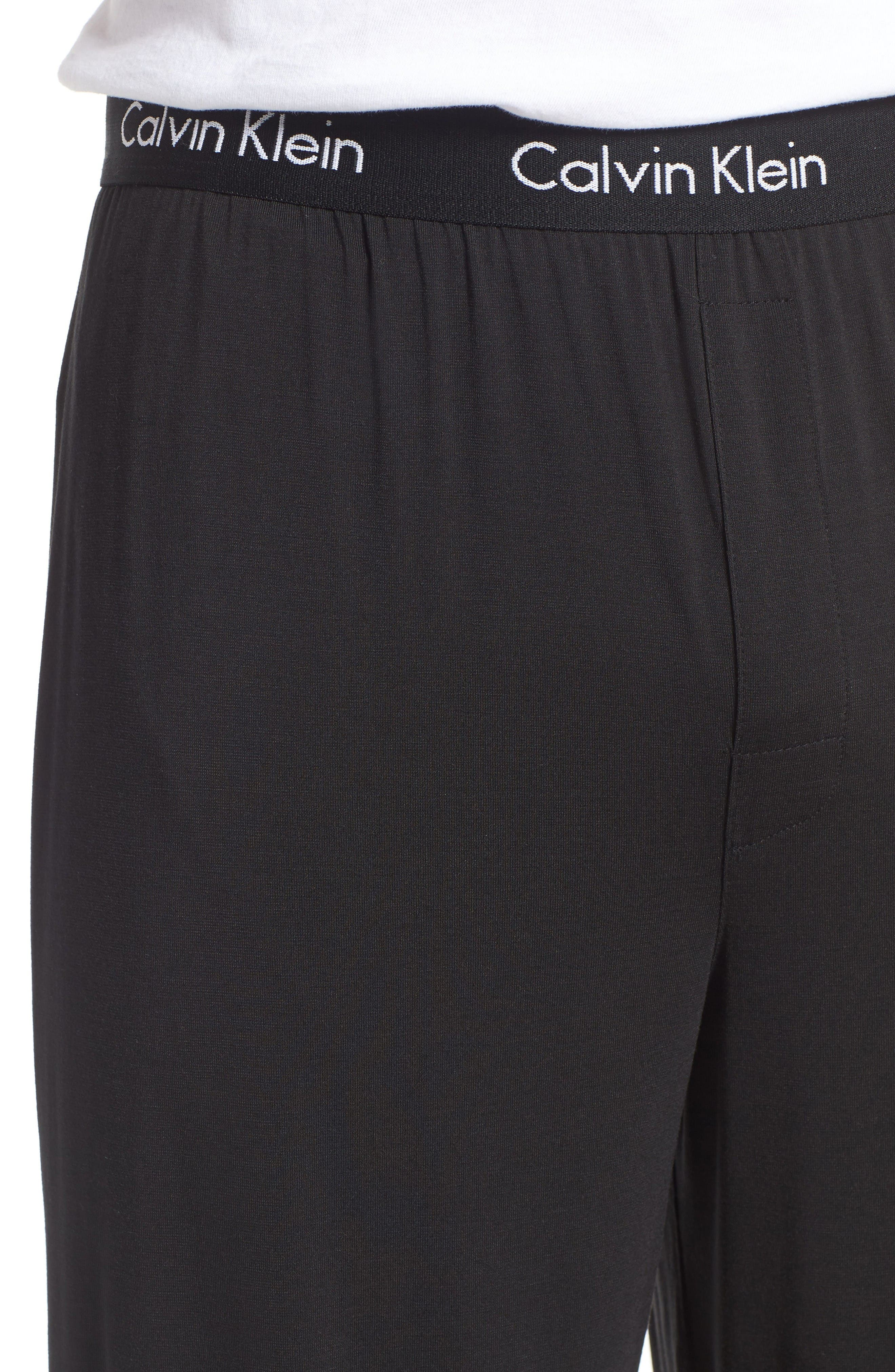 'U1143' Micromodal Lounge Pants,                             Alternate thumbnail 4, color,                             Black