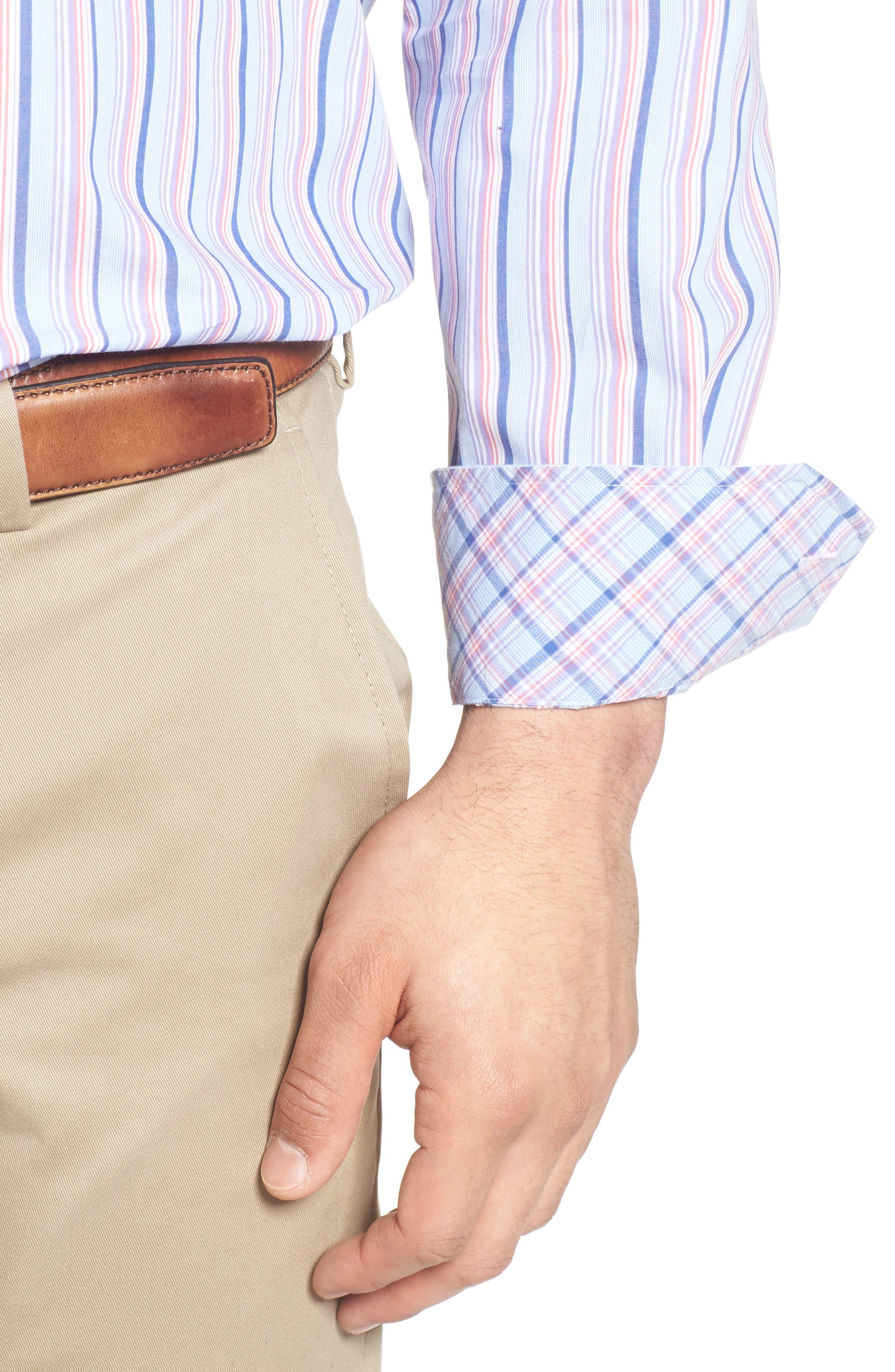 Alternate Image 4  - TailorByrd Holly Stripe Sport Shirt