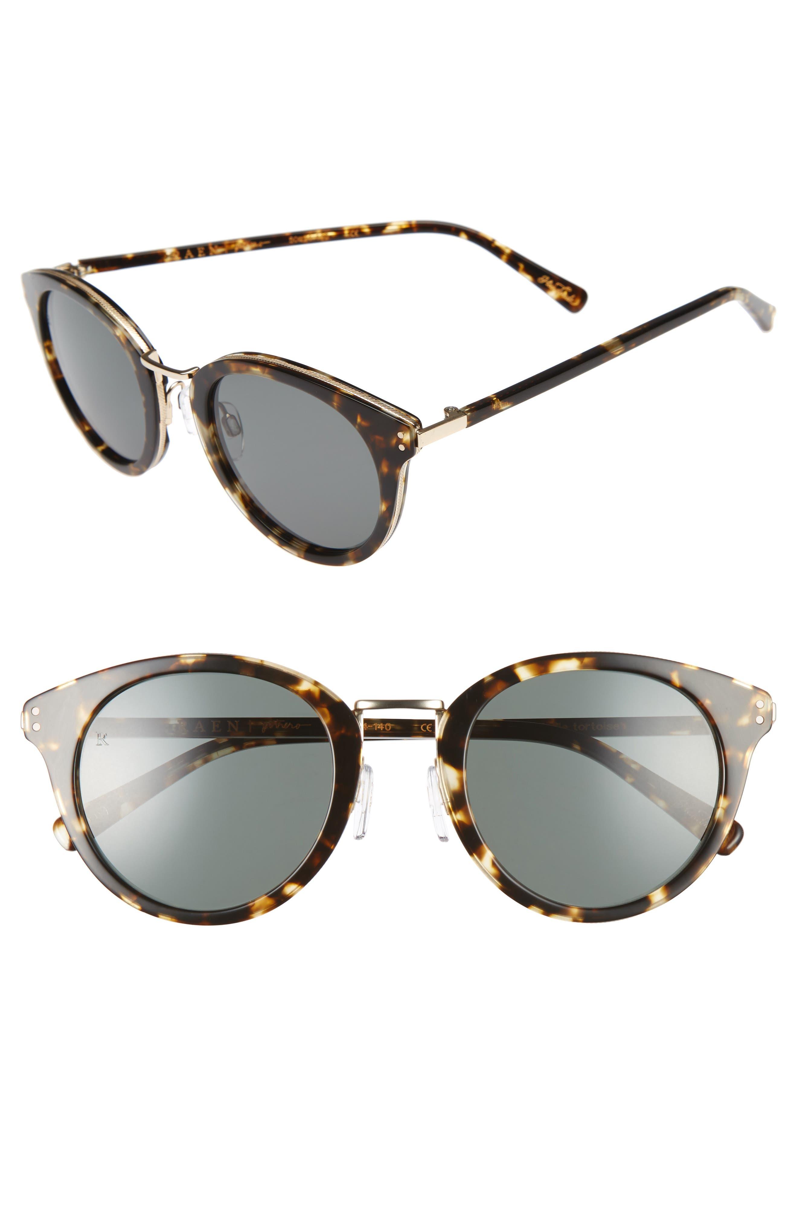 Potrero 50mm Sunglasses,                             Main thumbnail 1, color,                             Brindle Tortoise