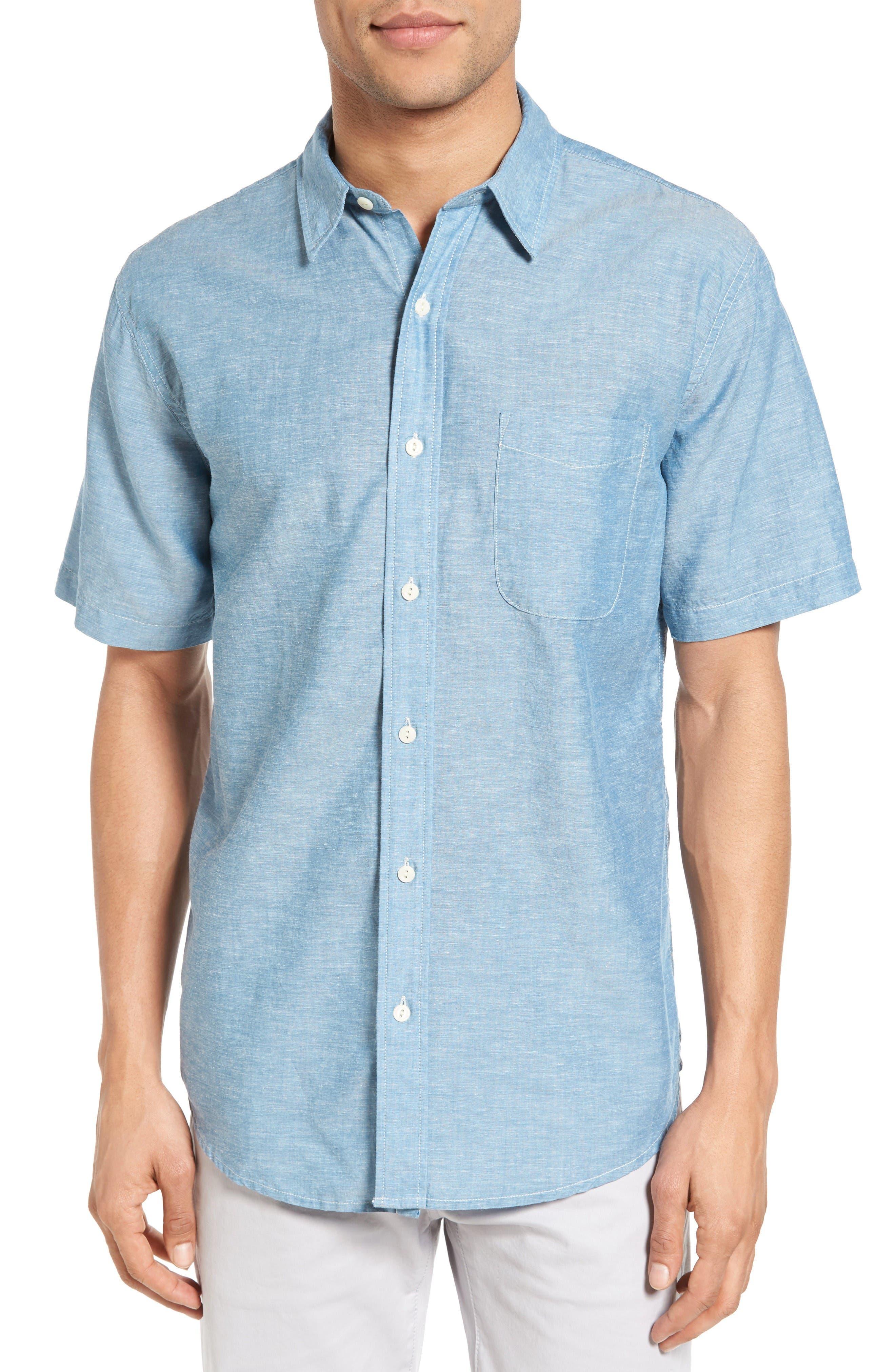 FAHERTY Breezecloth Ventura Trim Fit Sport Shirt