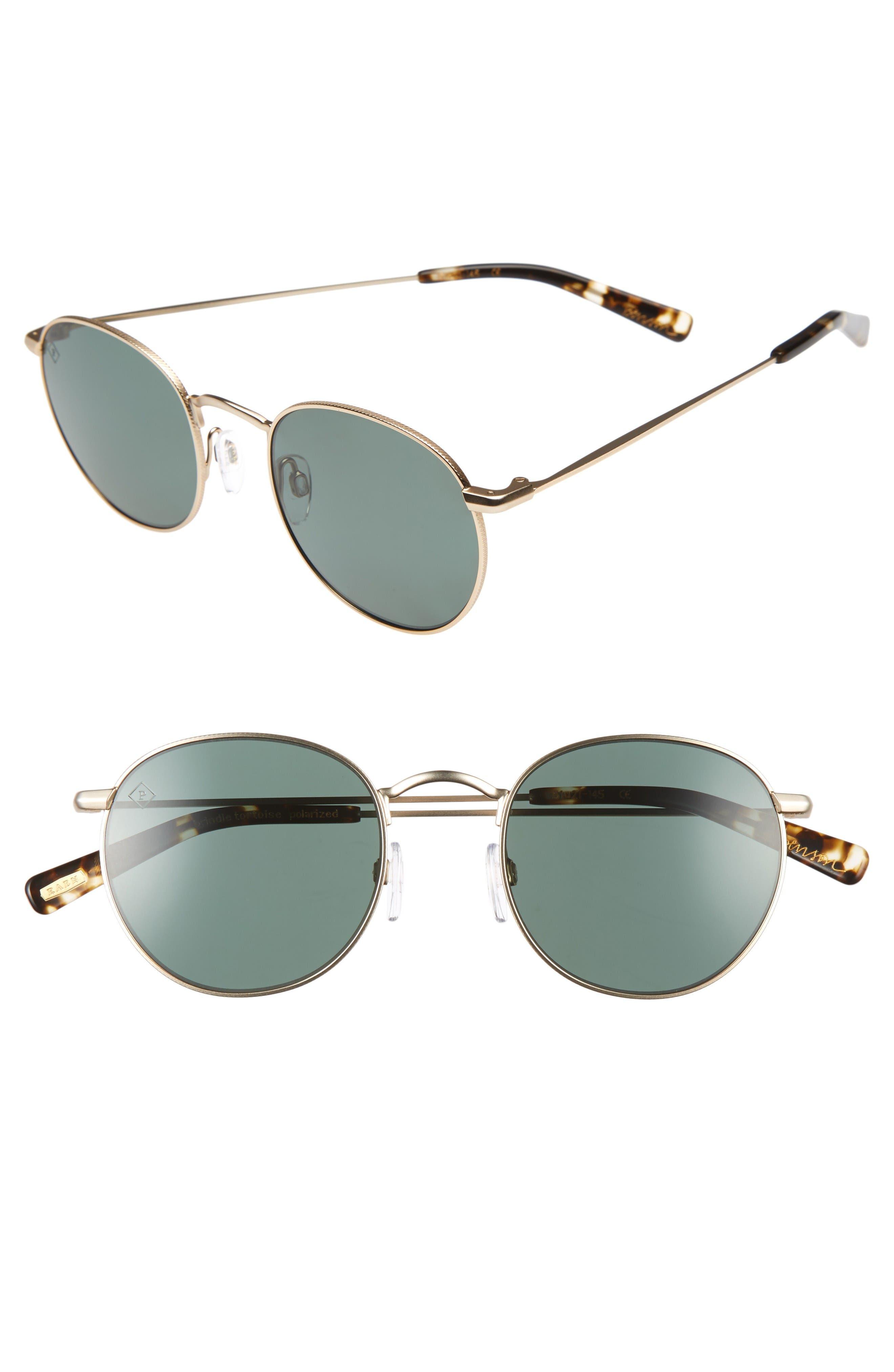 Benson 51mm Polarized Sunglasses,                             Main thumbnail 1, color,                             Gold/ Brindle