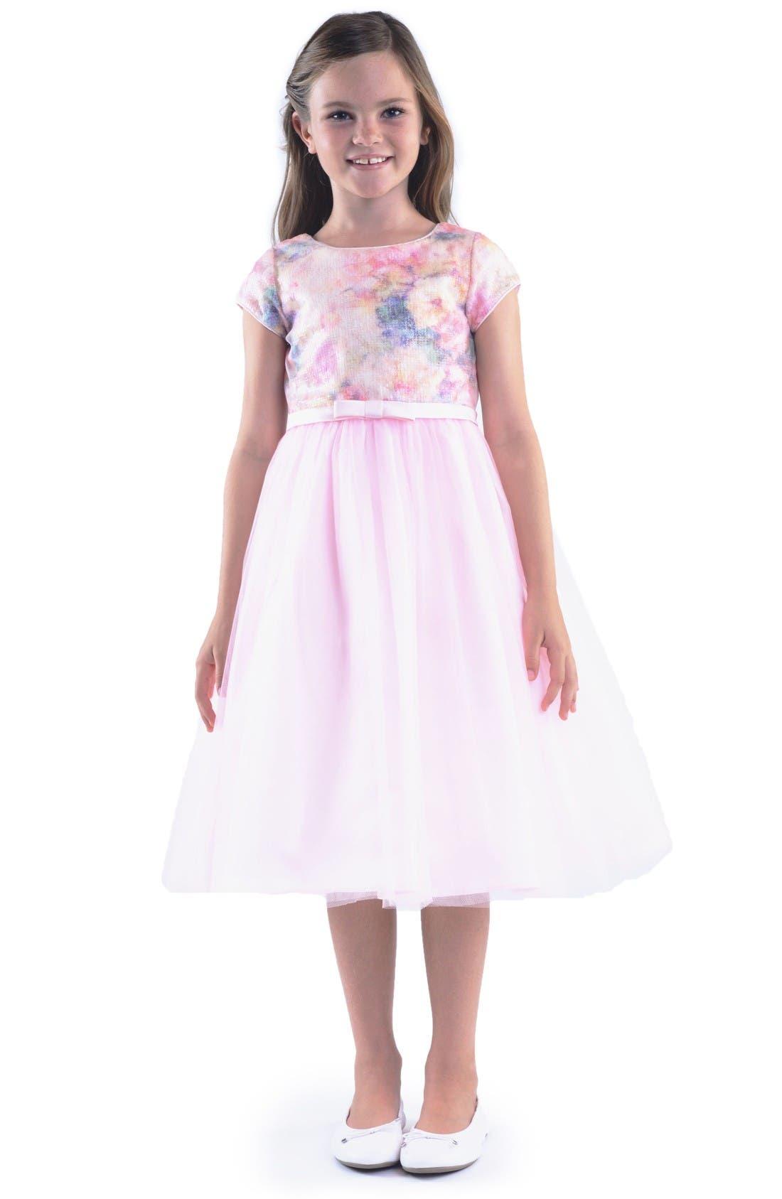 Embellished Dress,                             Main thumbnail 1, color,                             Blush Pink