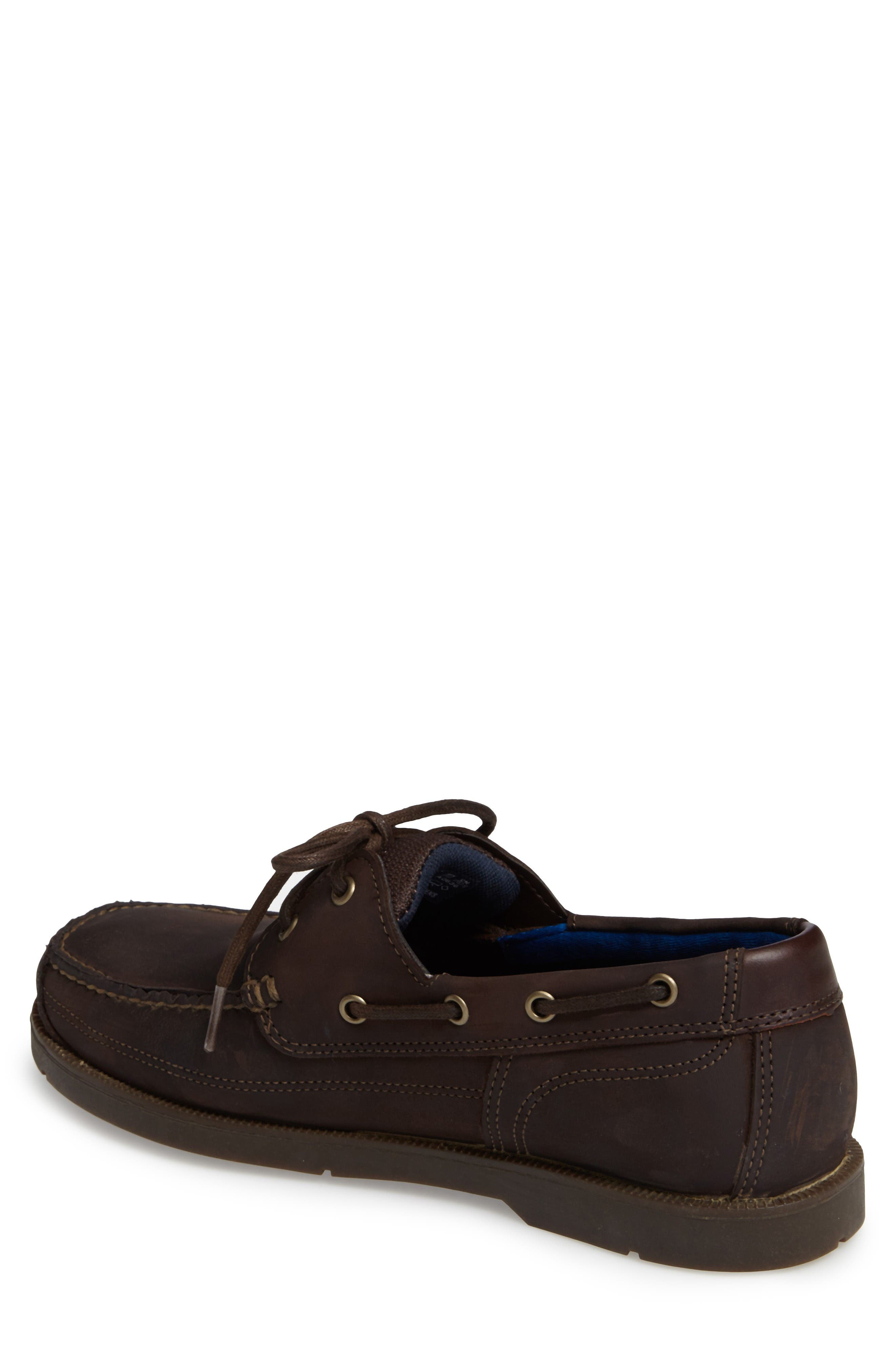 Piper Cove FG Boat Shoe,                             Alternate thumbnail 2, color,                             Chocolate Leather