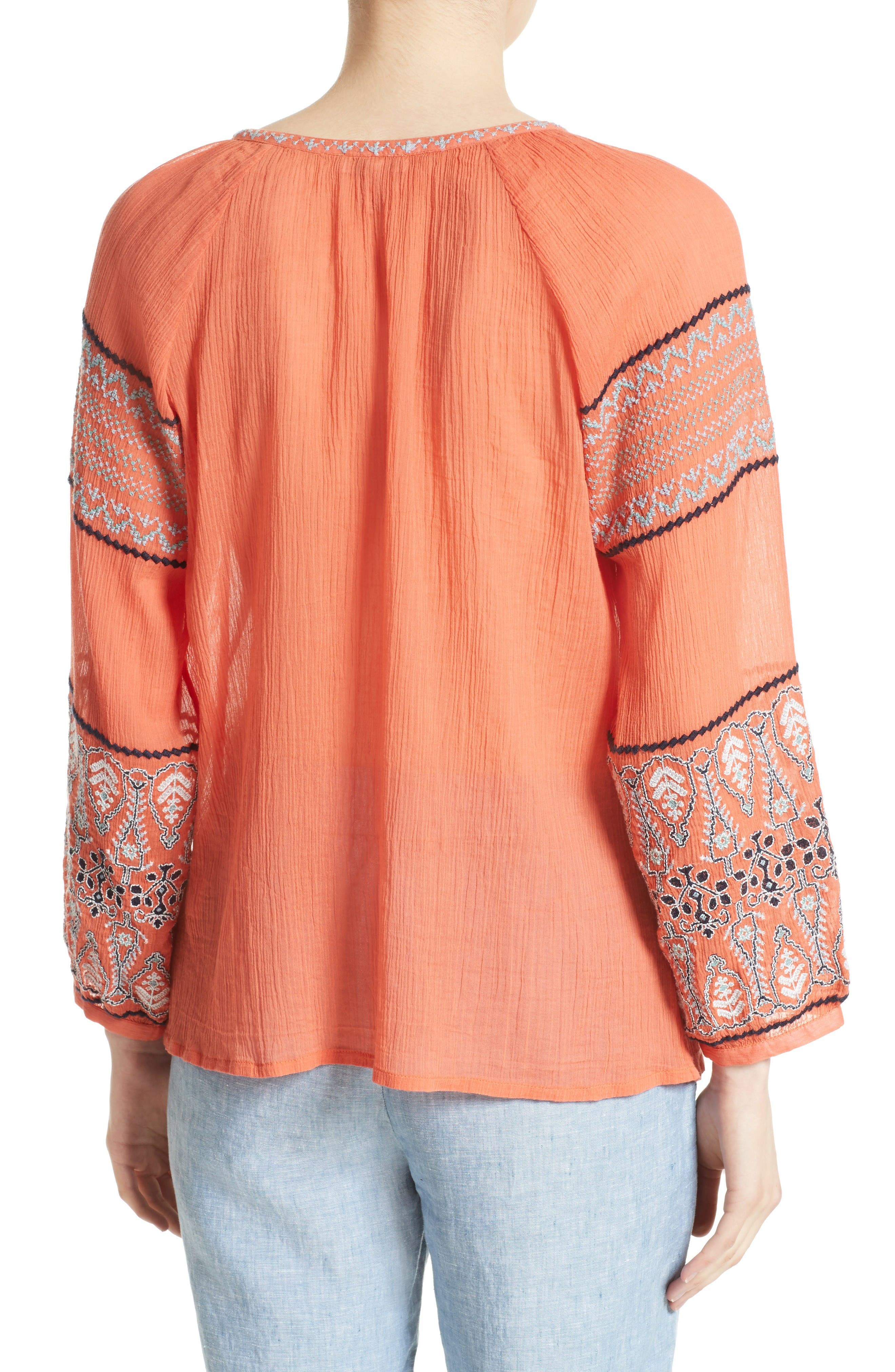 Alternate Image 2  - Joie Nelida Embroidered Cotton Blouse