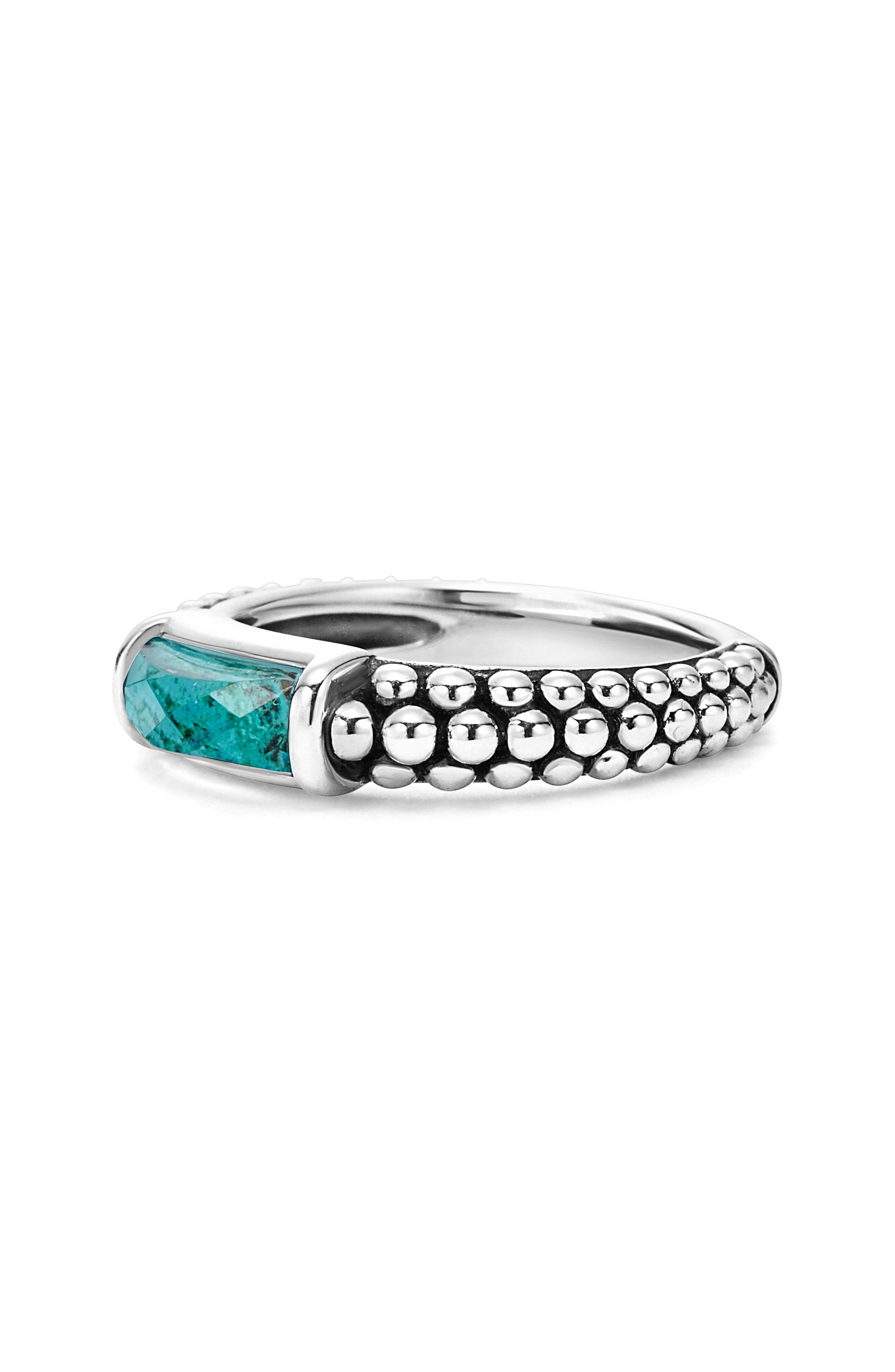 'Maya' Stackable Caviar Ring,                             Alternate thumbnail 2, color,                             Chrysocolla