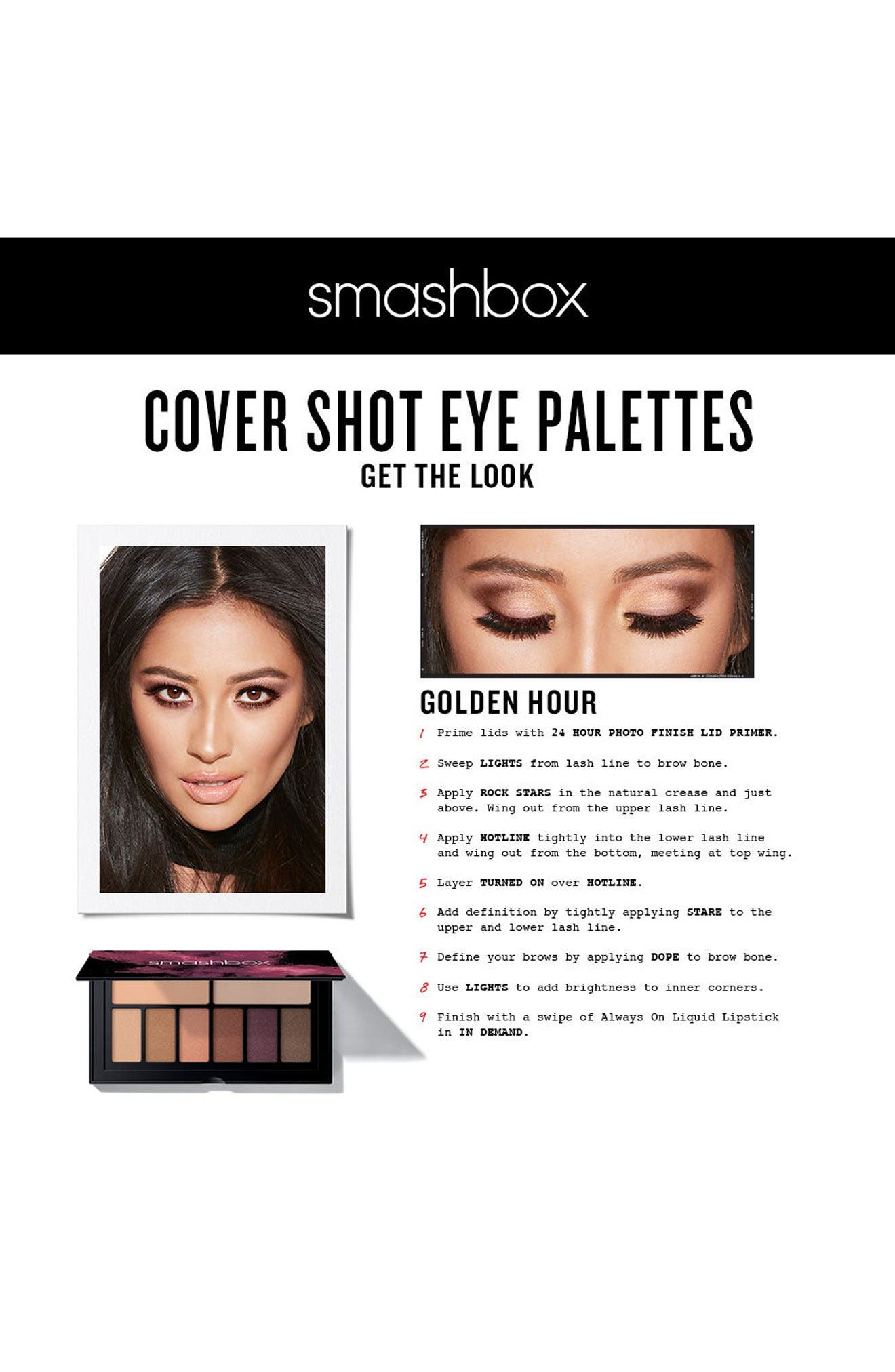 Cover Shot Eyeshadow Palette,                             Alternate thumbnail 6, color,                             Golden Hour