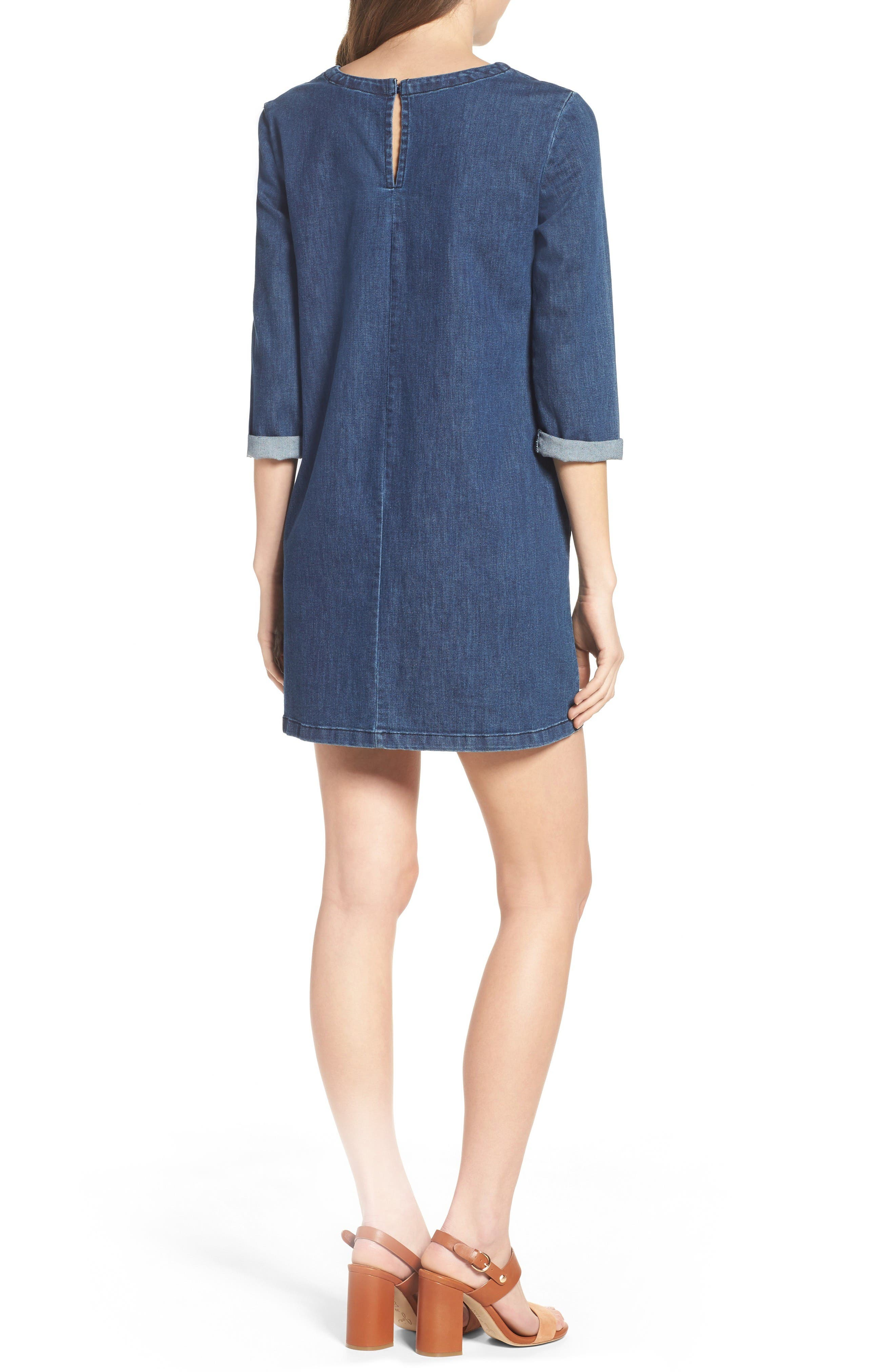 Alternate Image 2  - French Connection Denim Shirtdress