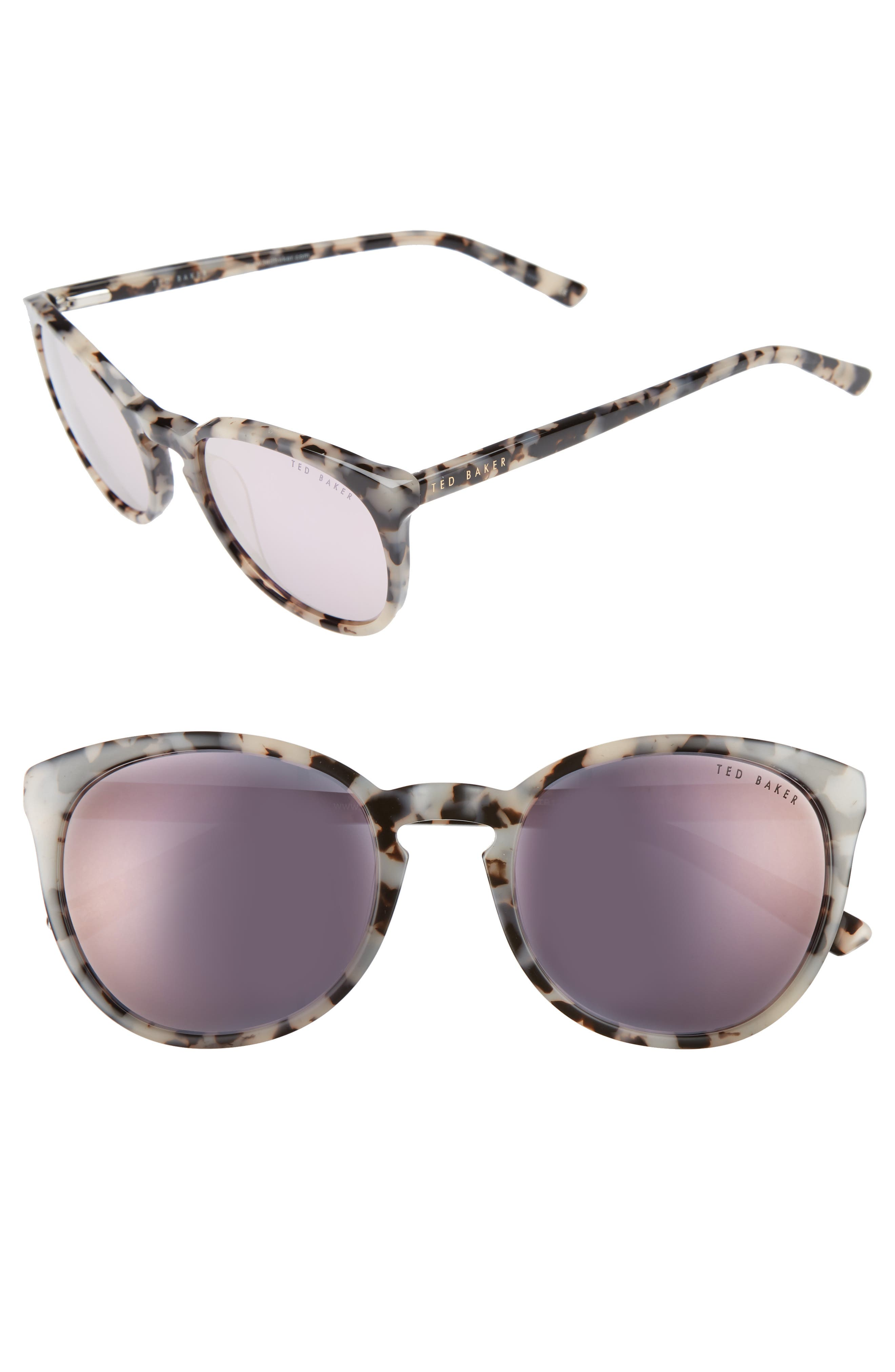 53mm Round Sunglasses,                         Main,                         color, Ivory