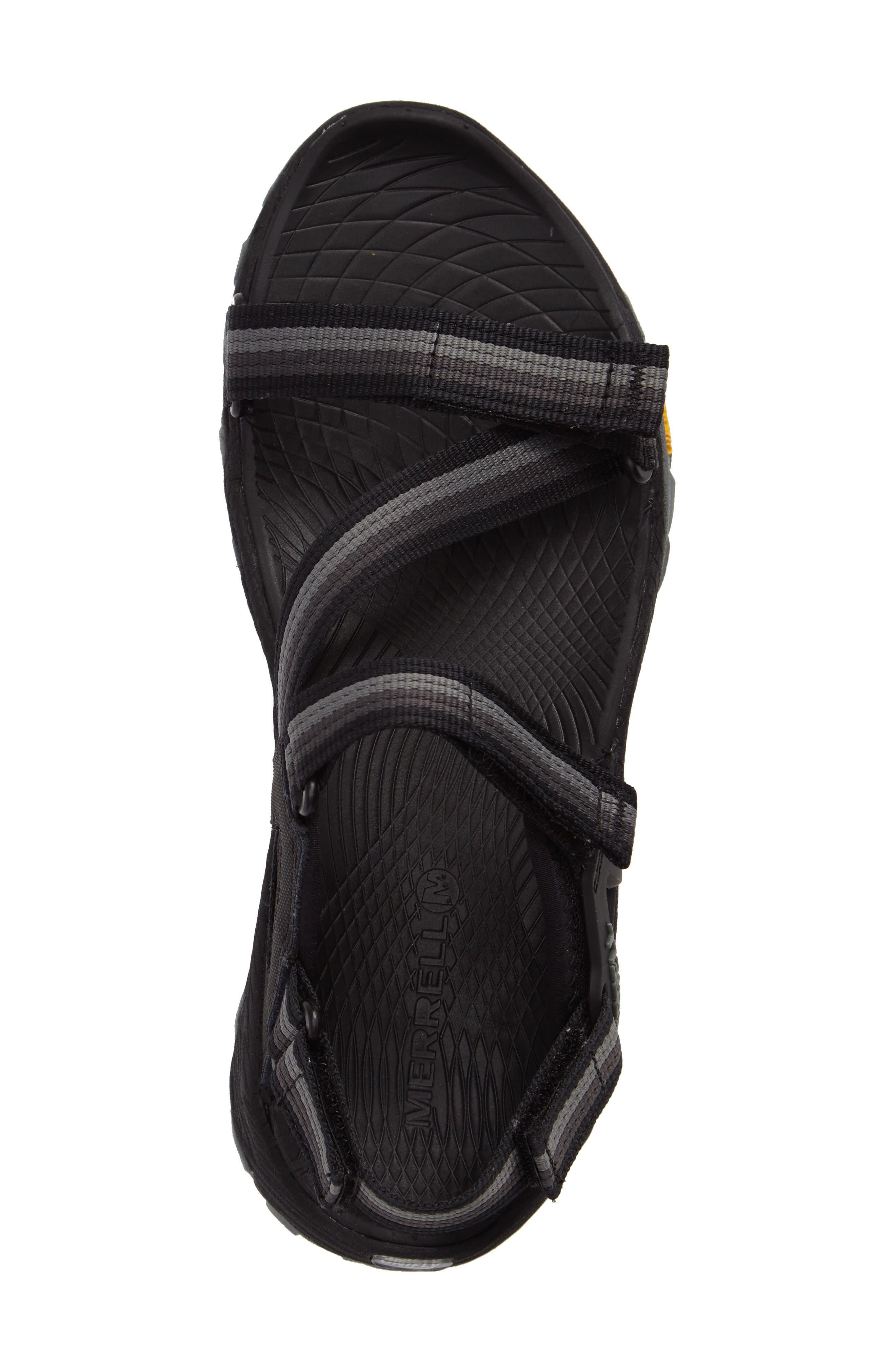 All Out Blaze Sport Sandal,                             Alternate thumbnail 5, color,                             Black Fabric
