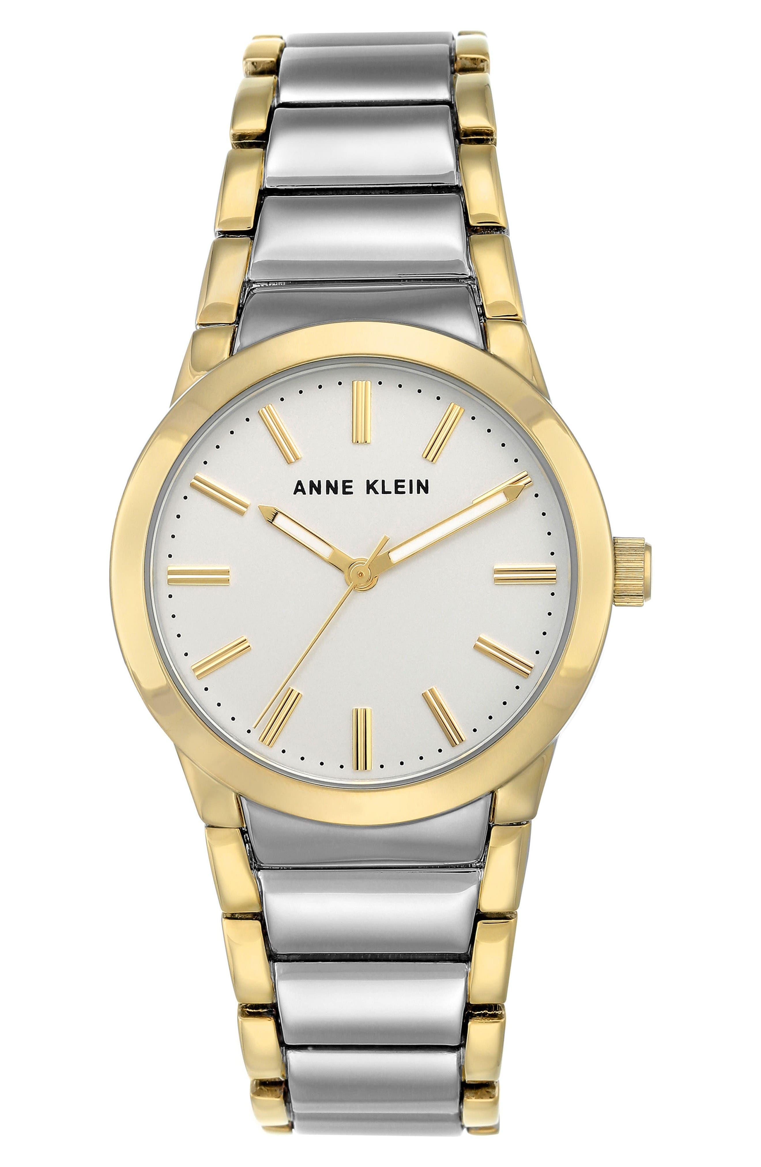Main Image - Anne Klein Link Bracelet Watch, 32.5mm