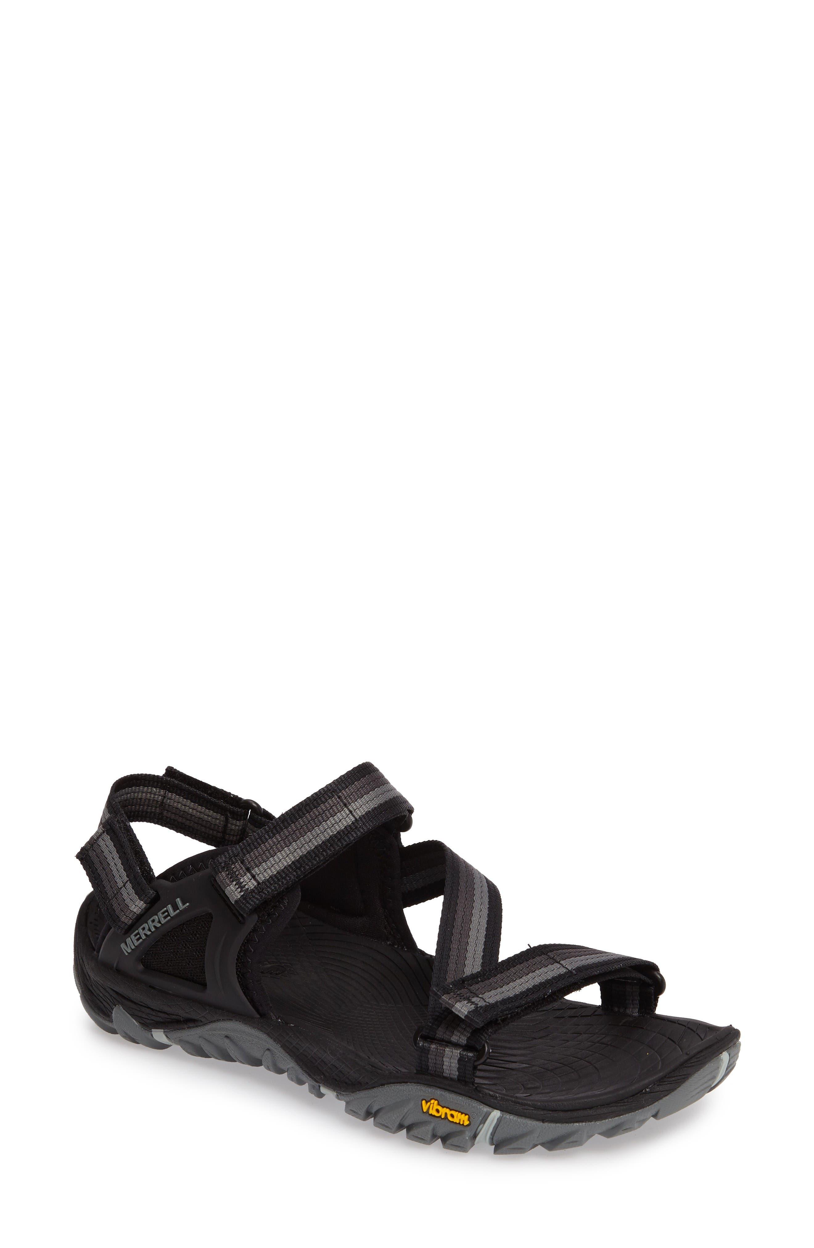 All Out Blaze Sport Sandal,                             Main thumbnail 1, color,                             Black Fabric