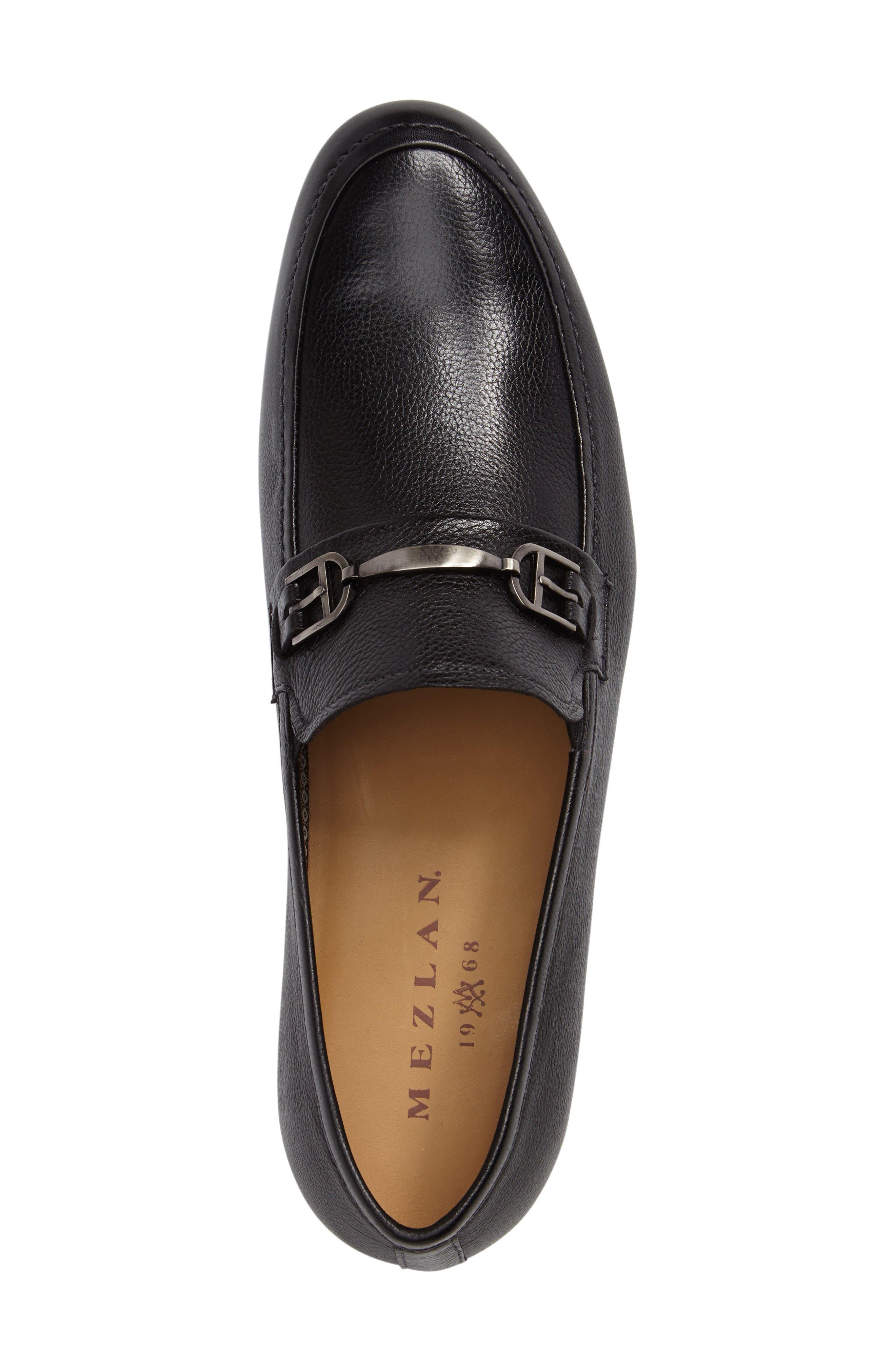 Binet Bit Loafer,                             Alternate thumbnail 5, color,                             Black Leather