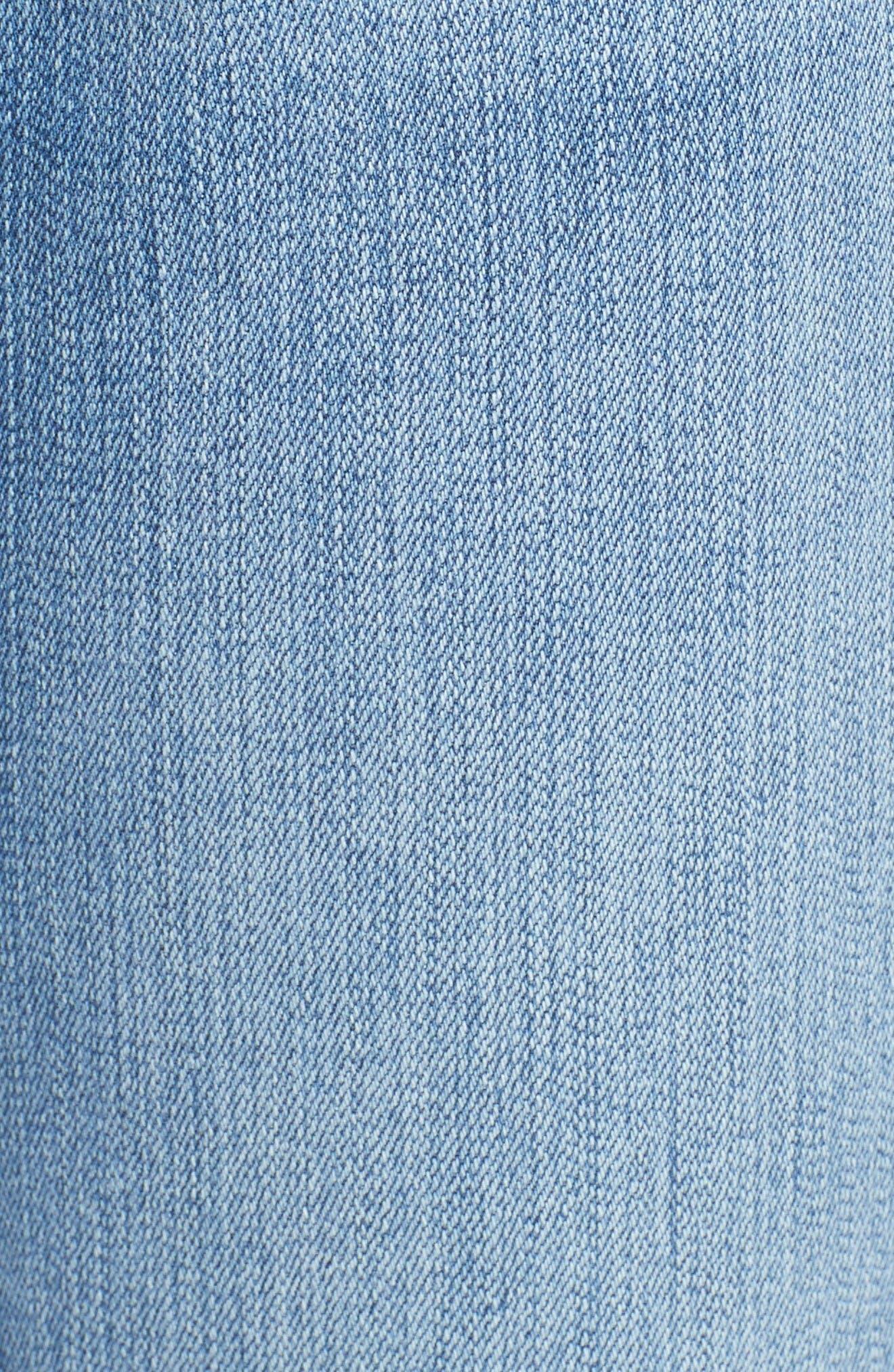 Alternate Image 6  - FRAME Le High Skinny Cascade Hem Jeans (Arenas) (Nordstrom Exclusive)