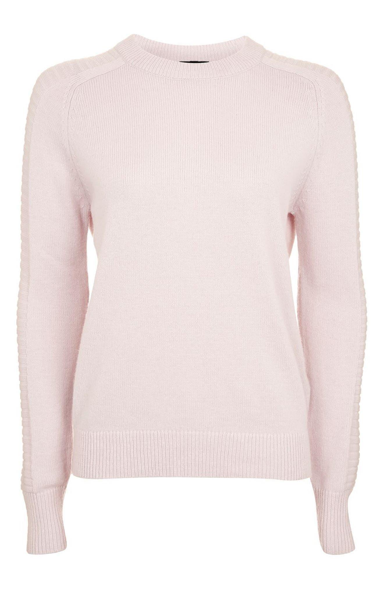 Alternate Image 4  - Topshop Links Panel Sweater