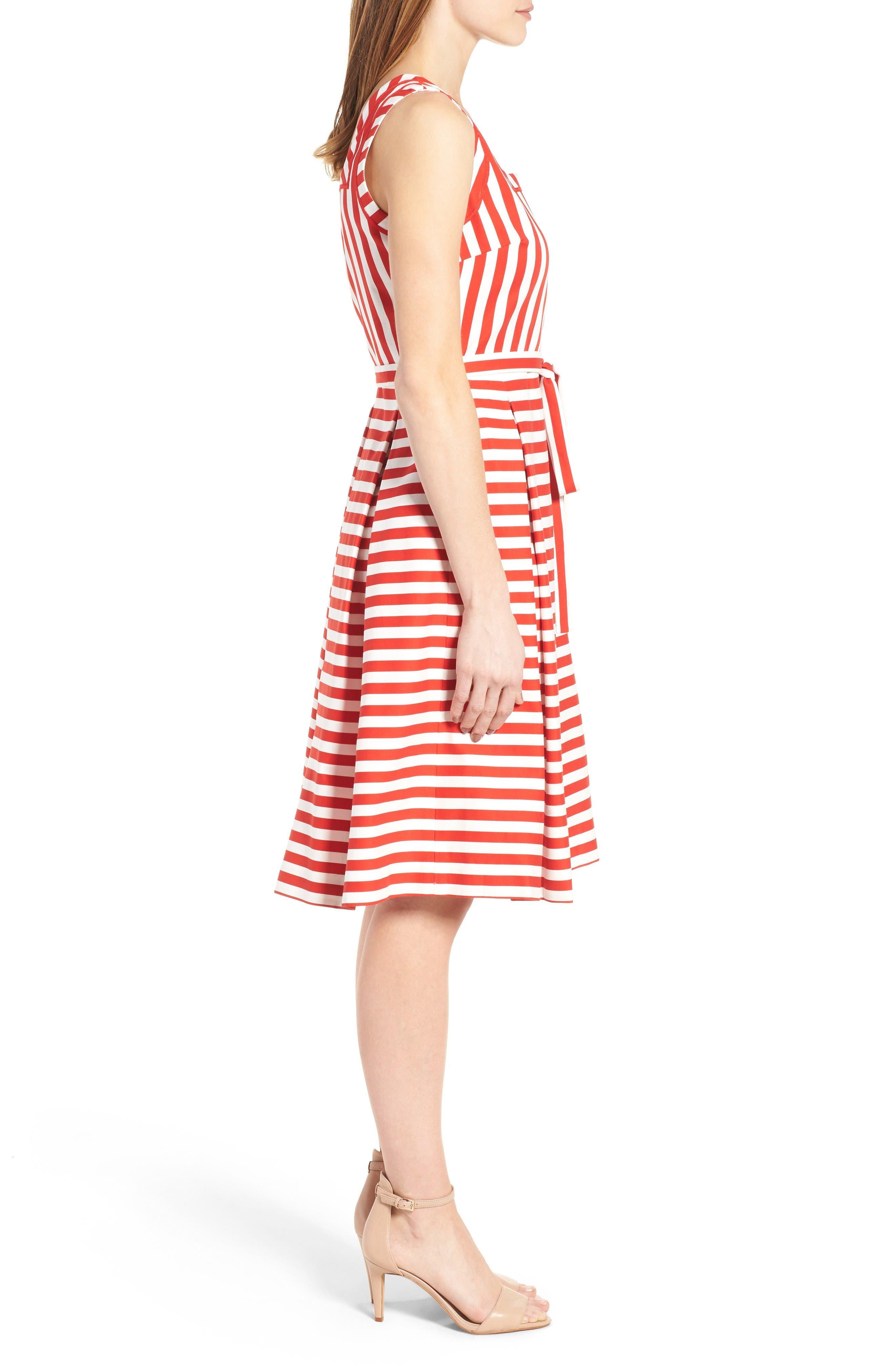 Alternate Image 3  - Anne Klein Stripe Fit & Flare Dress