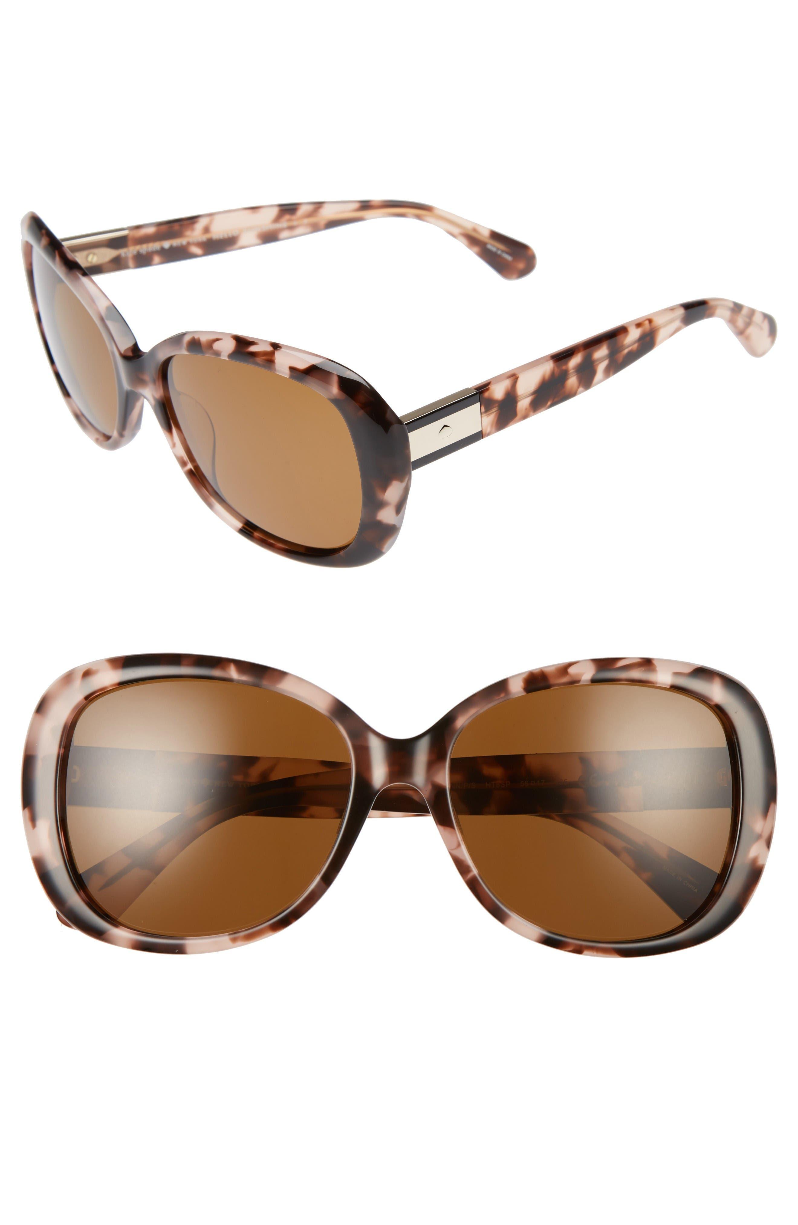 judyann 56mm Sunglasses,                             Main thumbnail 1, color,                             Pink/ Havana